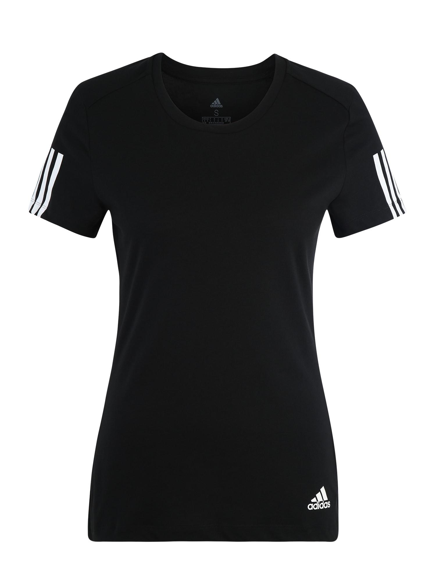 ADIDAS PERFORMANCE Sportiniai marškinėliai 'Run It' juoda / balta