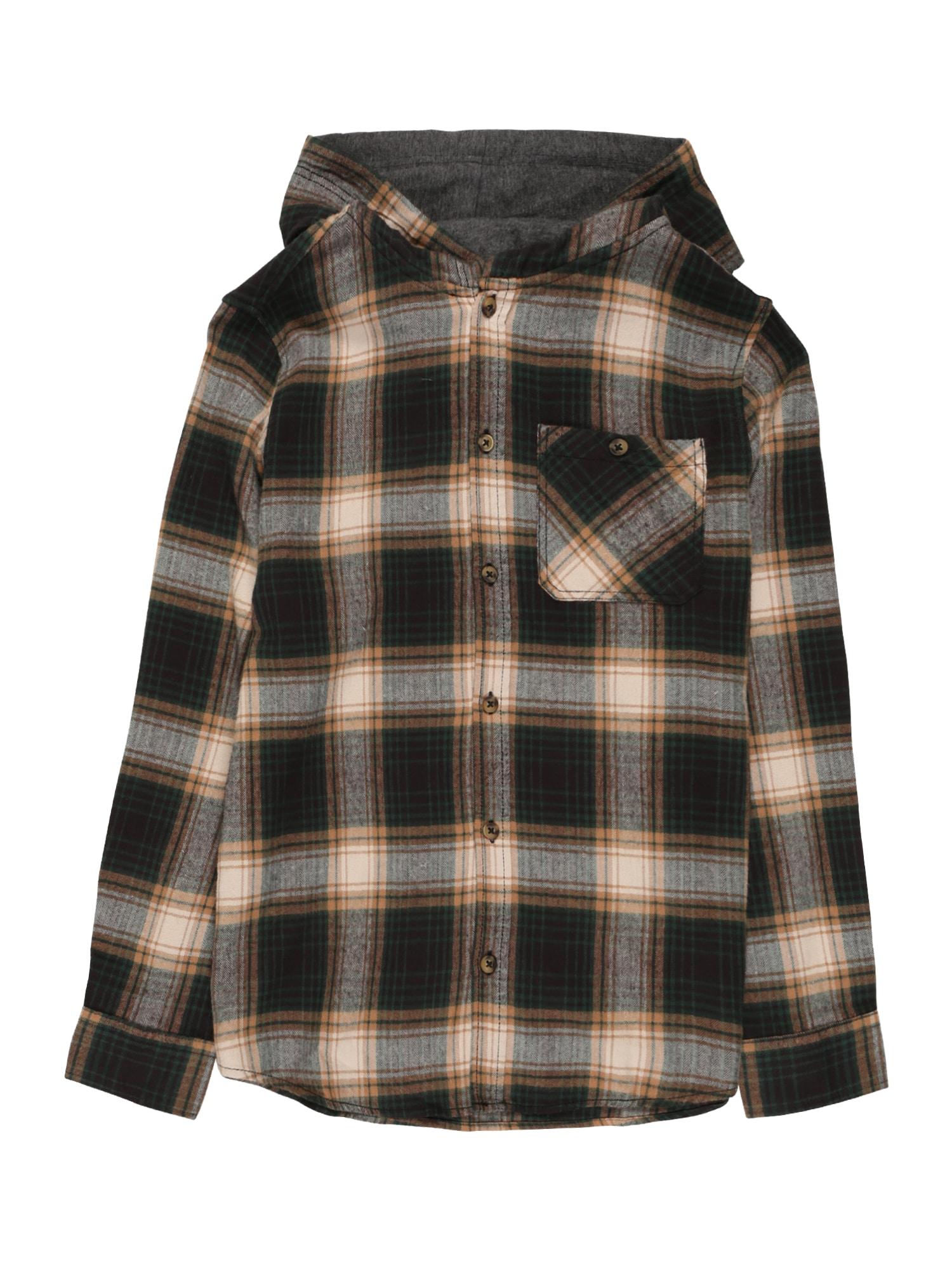 NAME IT Dalykiniai marškiniai antracito / vyšninė spalva / smėlio
