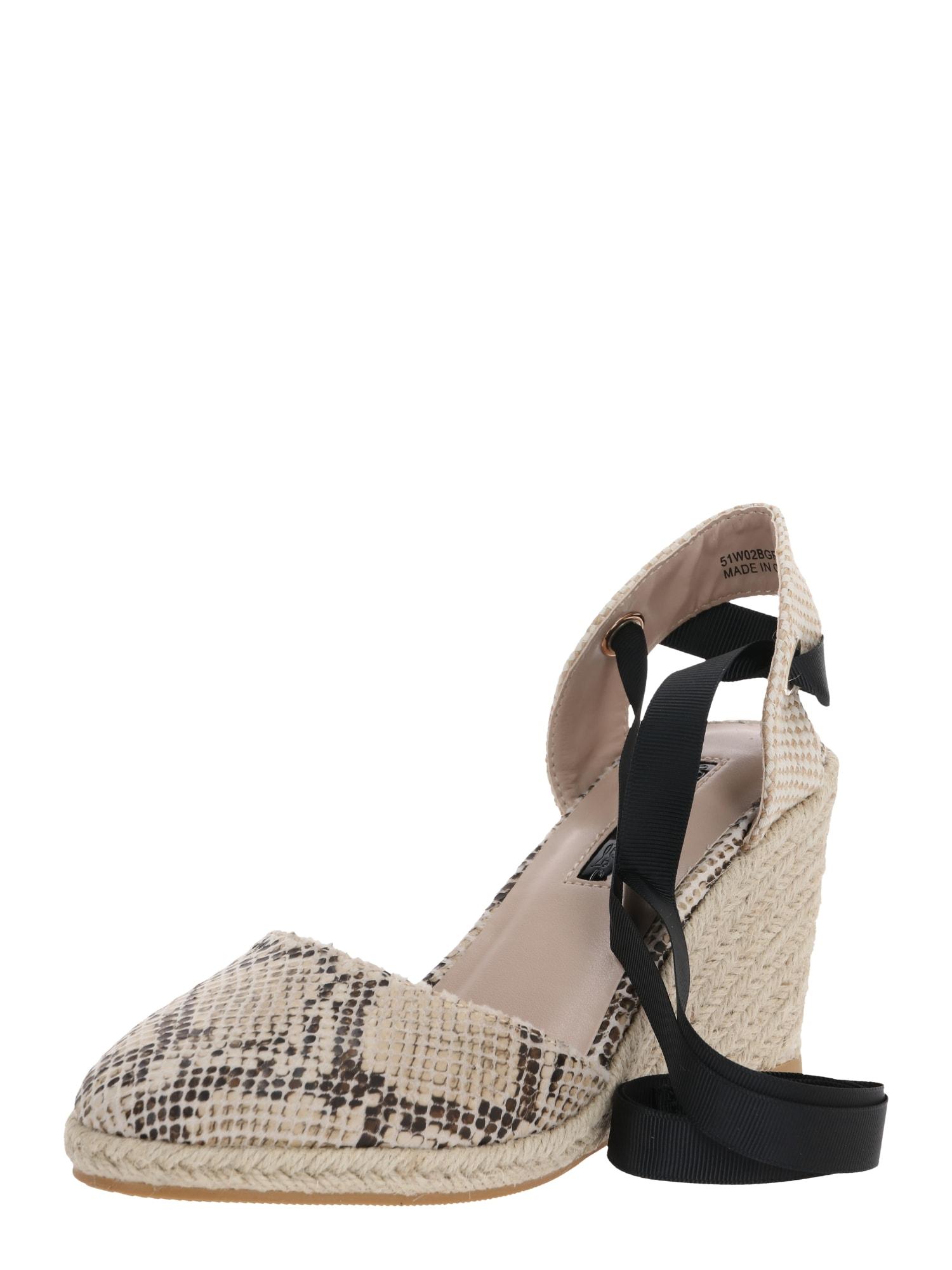 Miss Selfridge Remienkové sandále 'WINNY'  čierna / biela / sivá