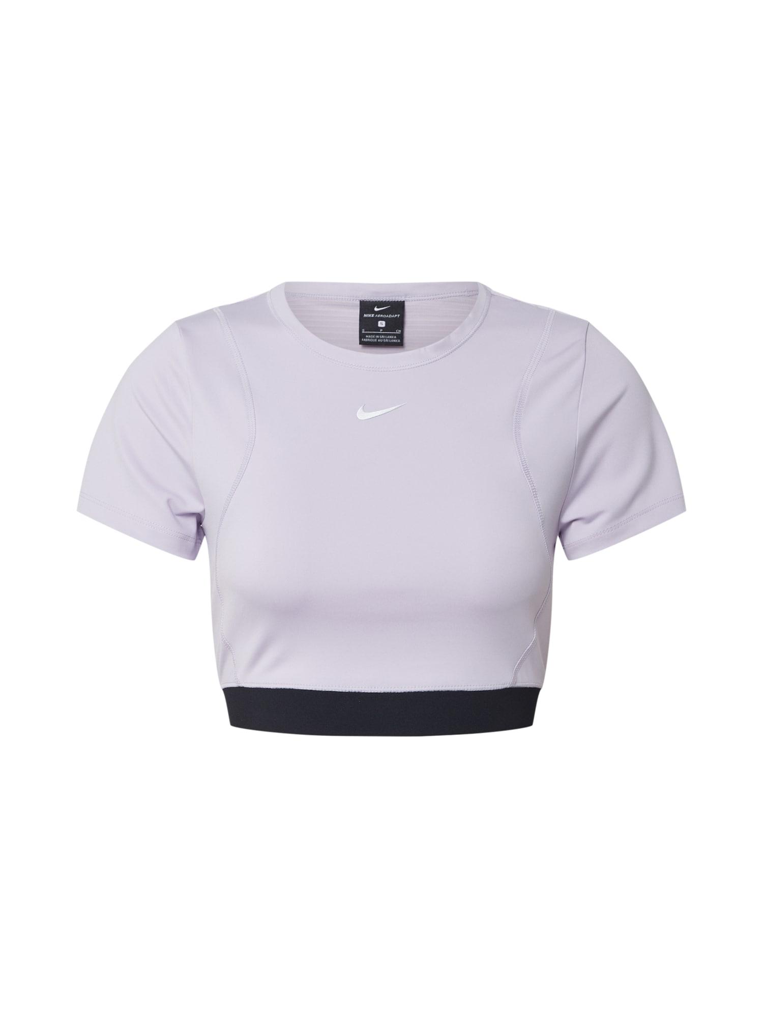 NIKE Marškinėliai 'AEROADPT ' juoda / alyvinė spalva