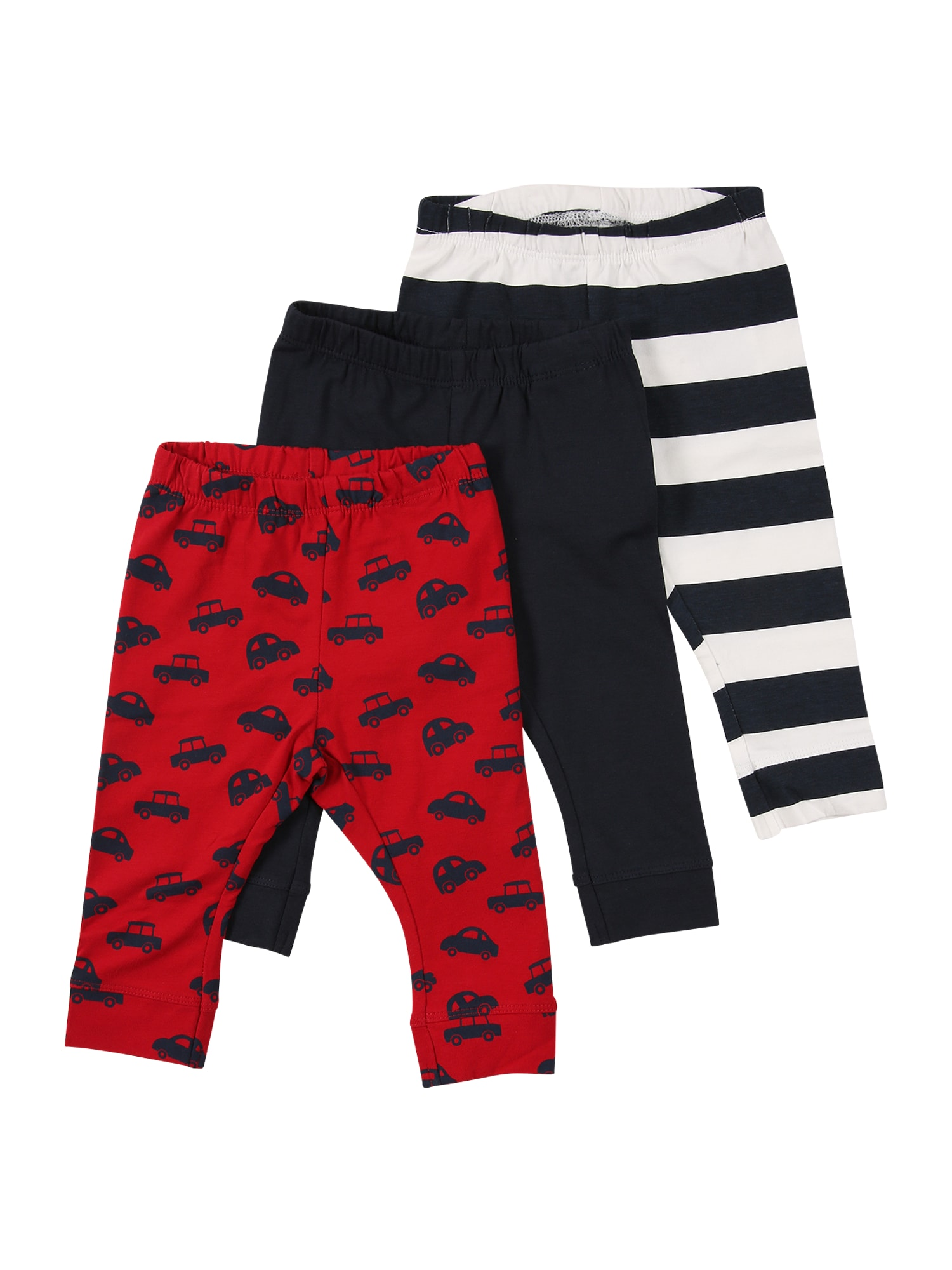 NAME IT Nohavice  červená / tmavomodrá / biela