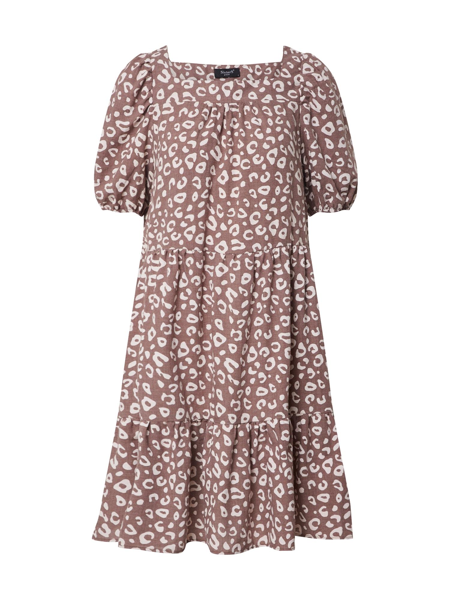 SISTERS POINT Letné šaty 'EKOM'  hnedé