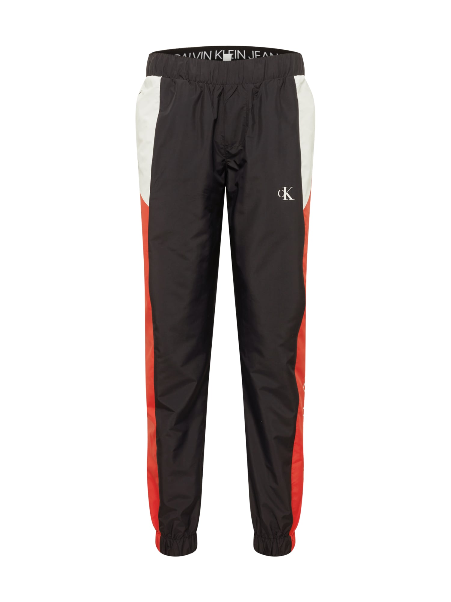 Calvin Klein Jeans Kelnės juoda / balta / raudona