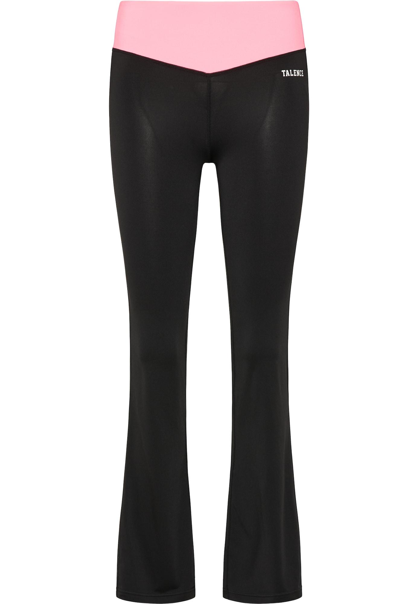 TALENCE Funkcinės kelnės juoda / šviesiai rožinė