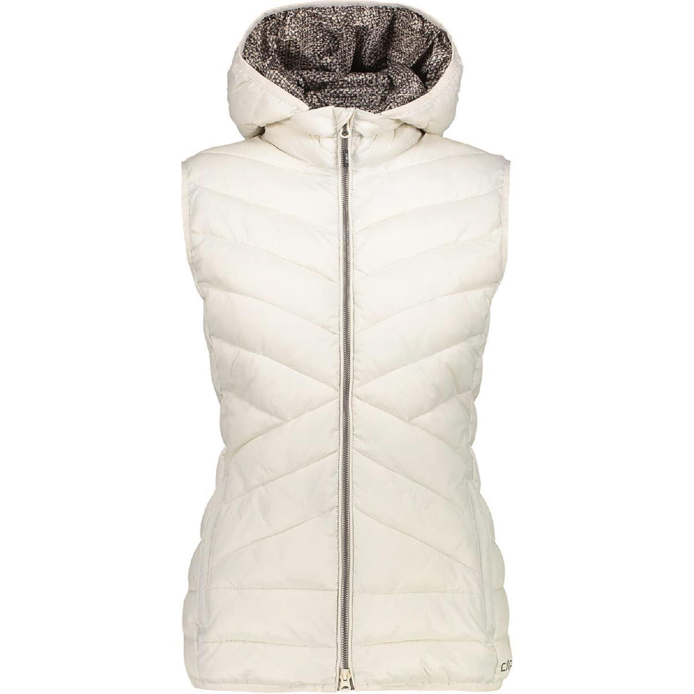 Damen CMP Weste ' Vest Zip Hood ' beige, blau | 08056381799523