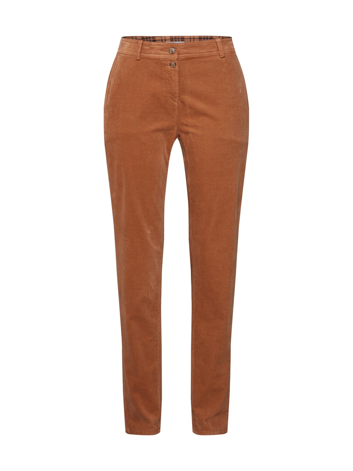 EDC BY ESPRIT Chino stiliaus kelnės 'Chino Pants woven' šviesiai ruda