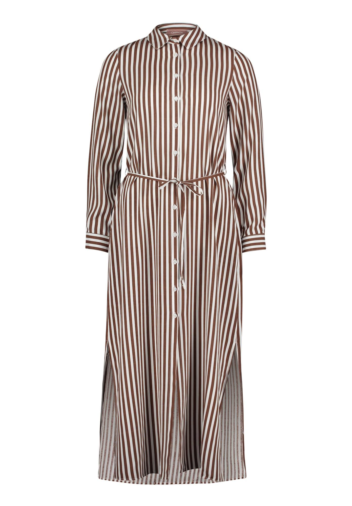 Cartoon Palaidinės tipo suknelė balta / ruda