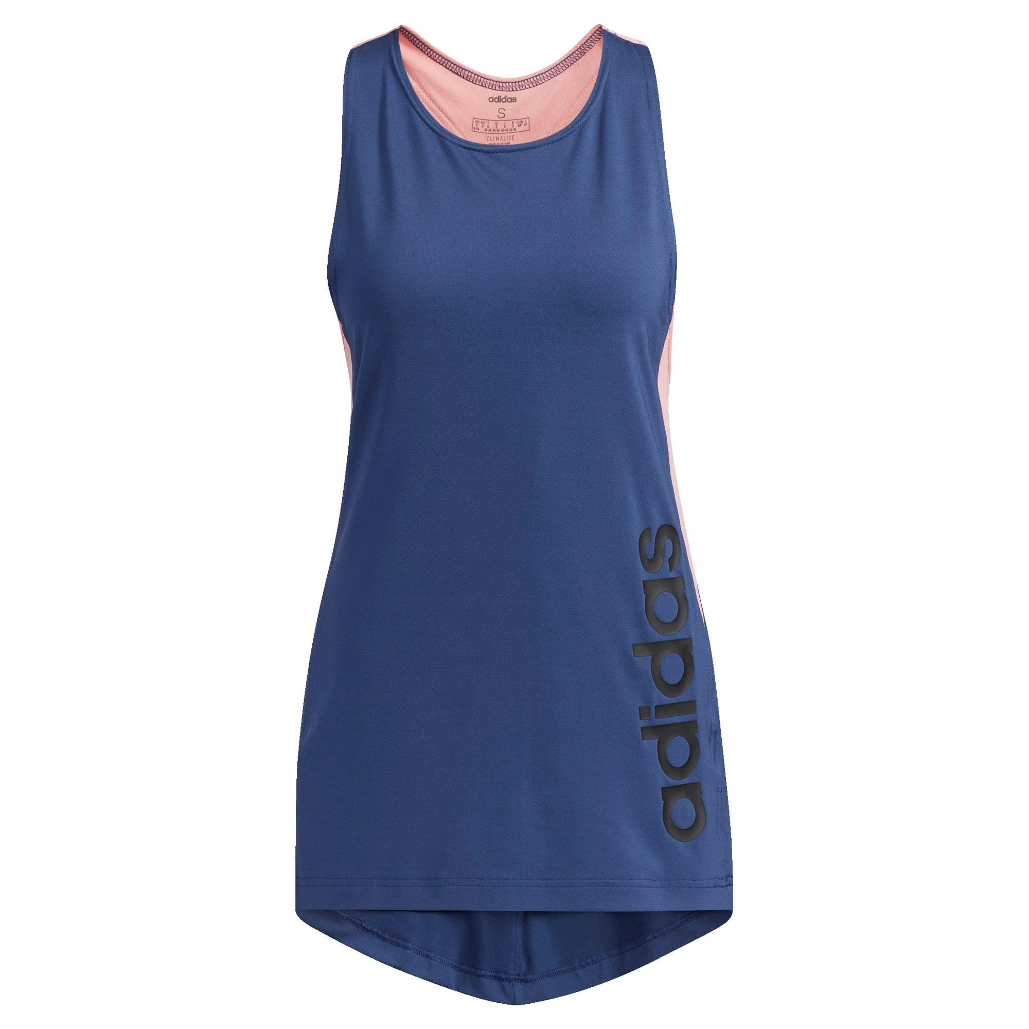 ADIDAS PERFORMANCE Športový top  námornícka modrá / čierna / ružová