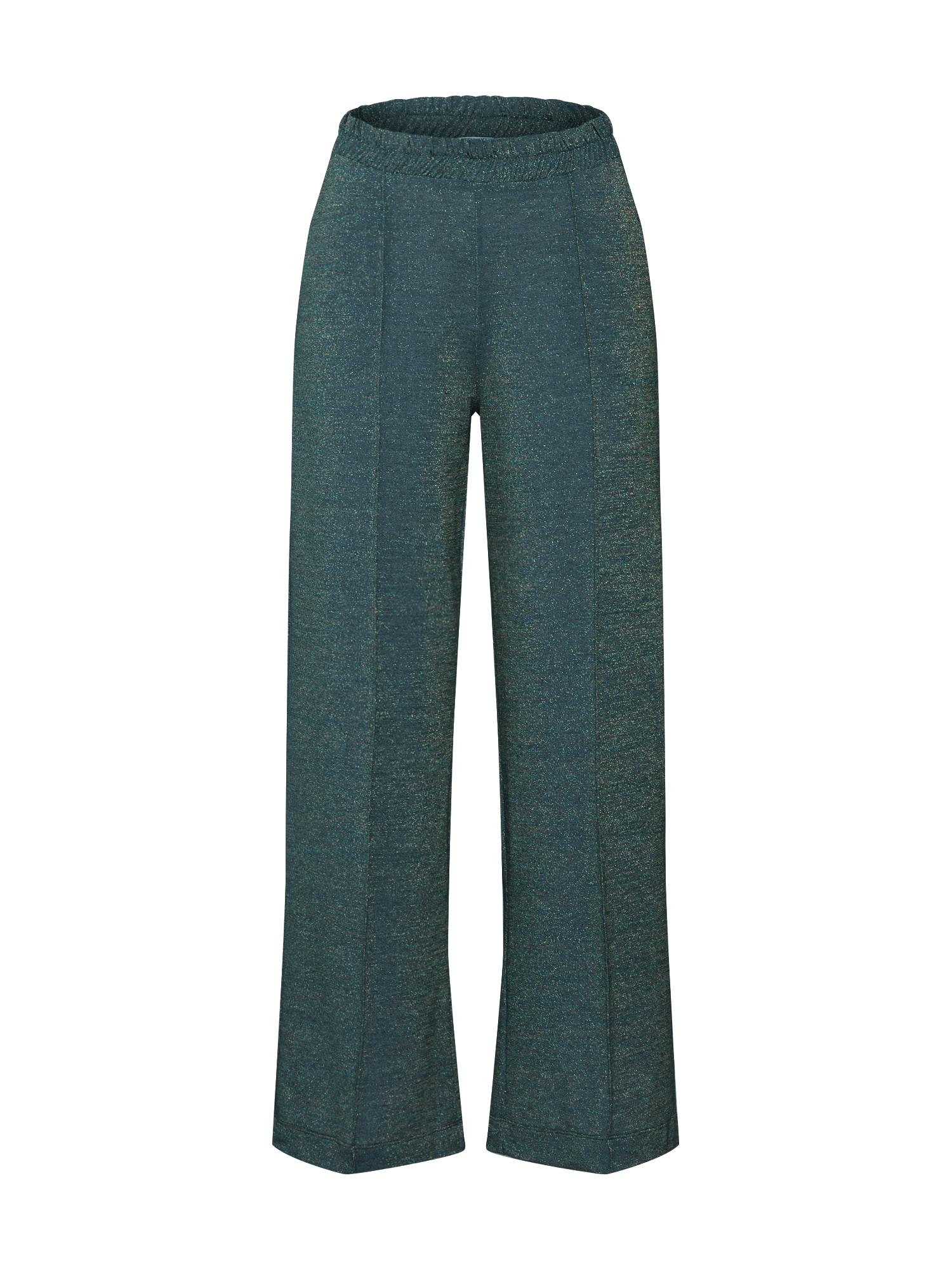 EDITED Kelnės su kantu 'Annina' margai žalia / tamsiai žalia