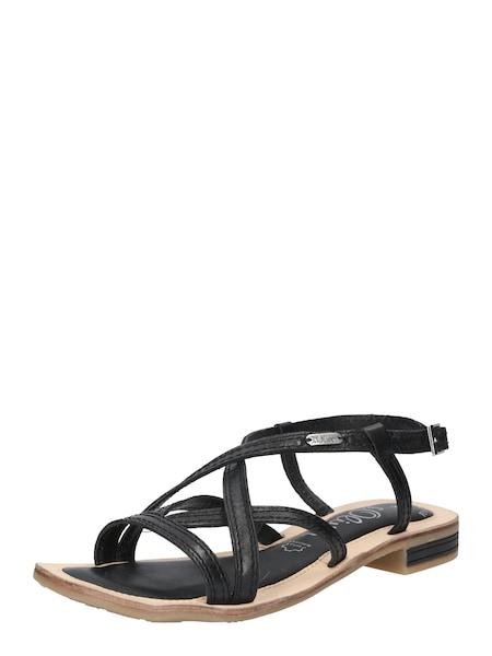 Sandalen für Frauen - S.Oliver RED LABEL Riemchensandale chamois schwarz  - Onlineshop ABOUT YOU