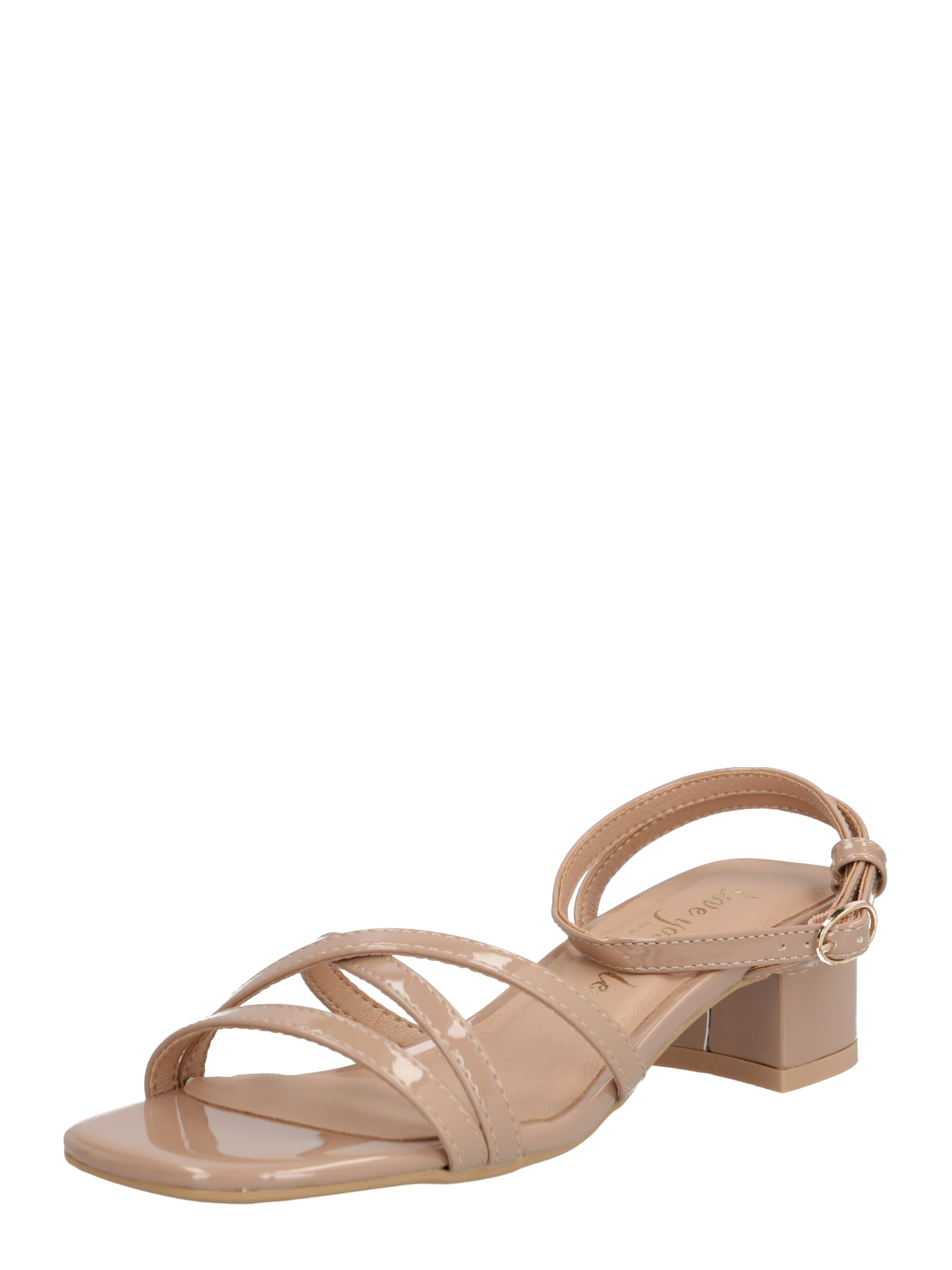 NEW LOOK Remienkové sandále 'VANILLA - PAPU MULTI STRAP LOW BLOCK'  béžová