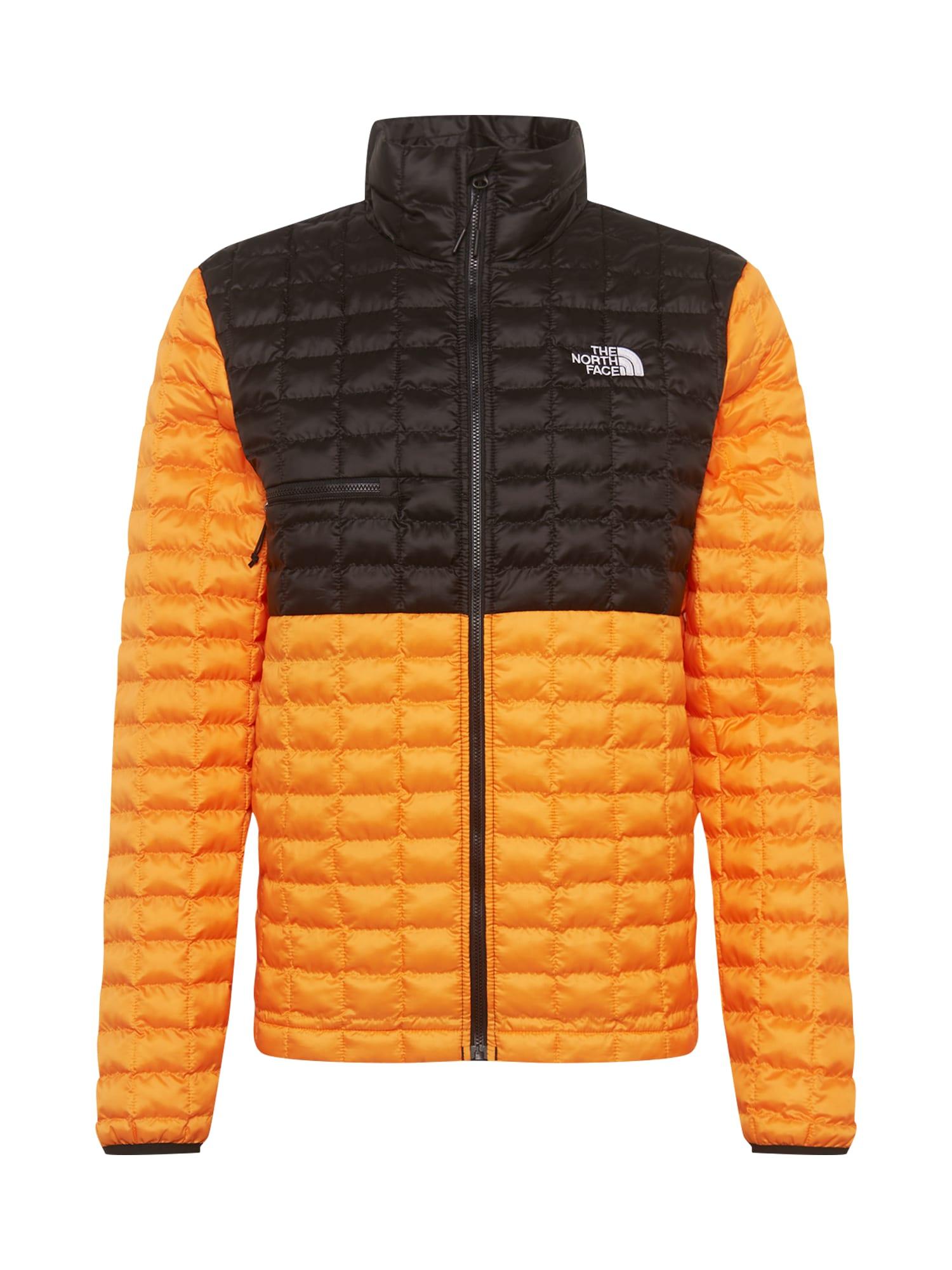 THE NORTH FACE Športová bunda  čierna / oranžová