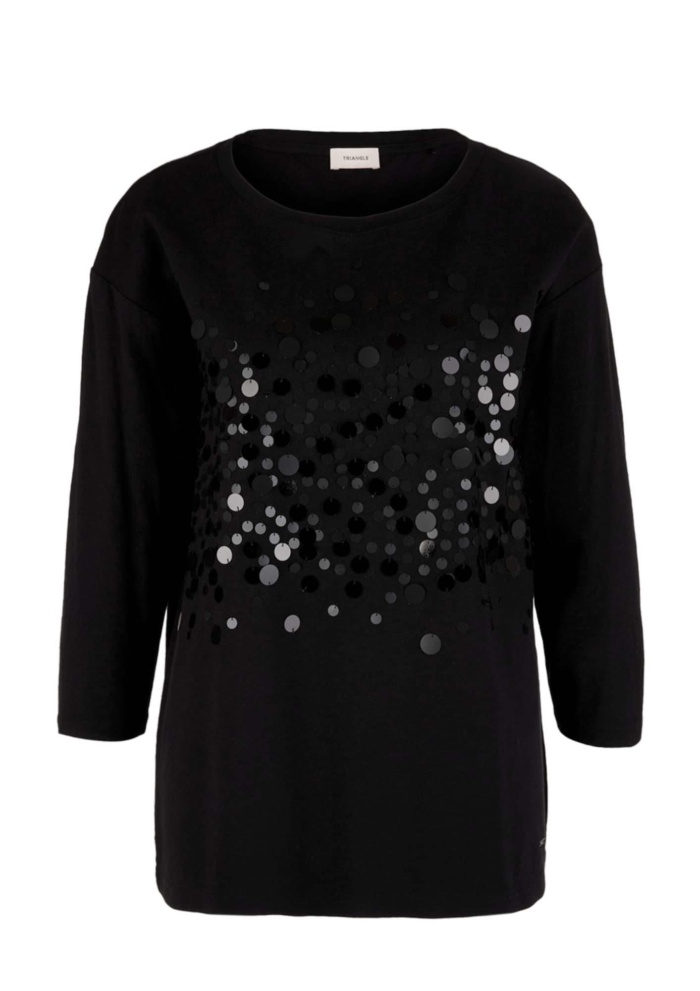 TRIANGLE Marškinėliai juoda