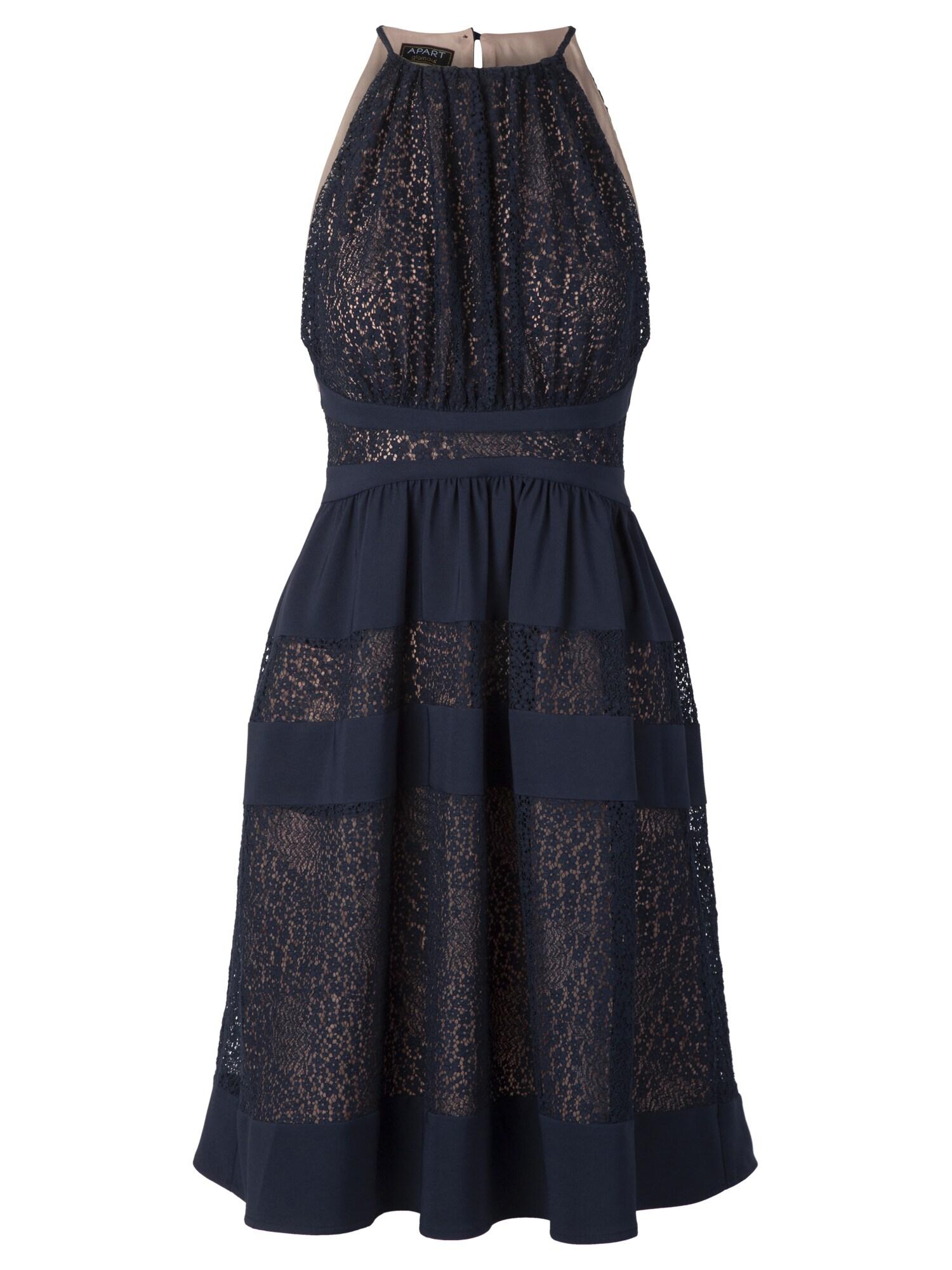 APART Vakarinė suknelė nakties mėlyna / skaidri spalva