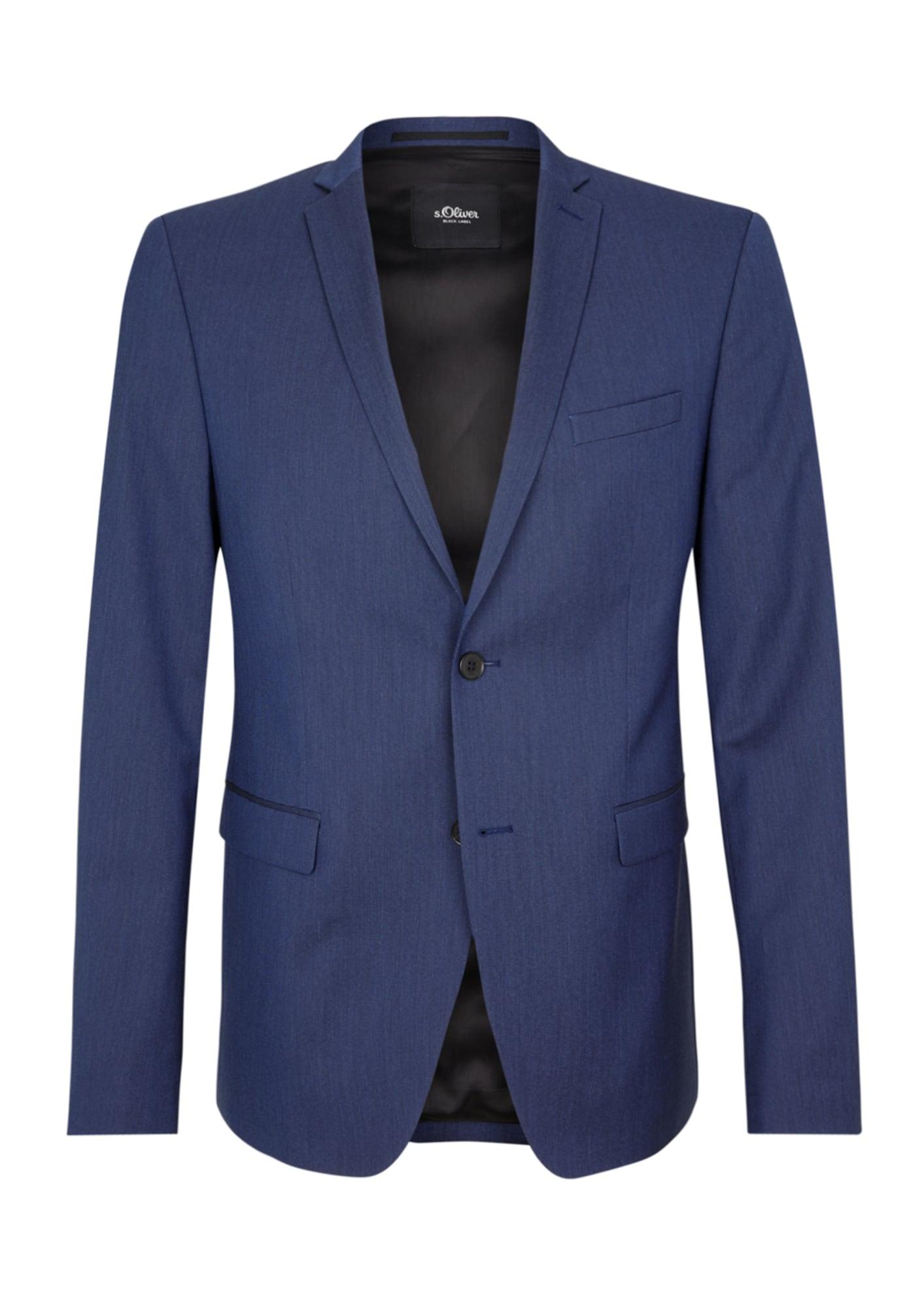 s.Oliver BLACK LABEL Dalykinio stiliaus švarkas tamsiai mėlyna