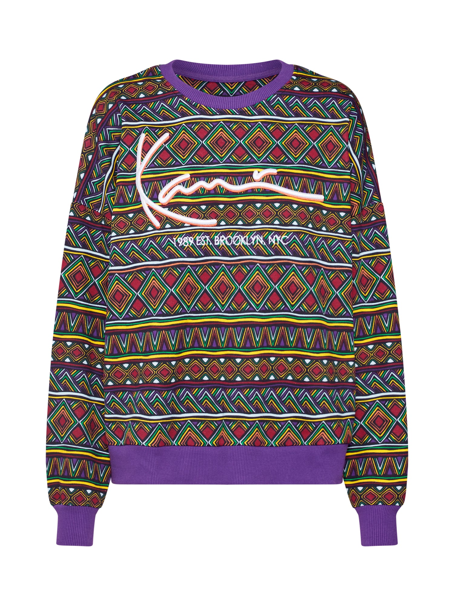 Mikina KK Signature Crew mix barev Karl Kani