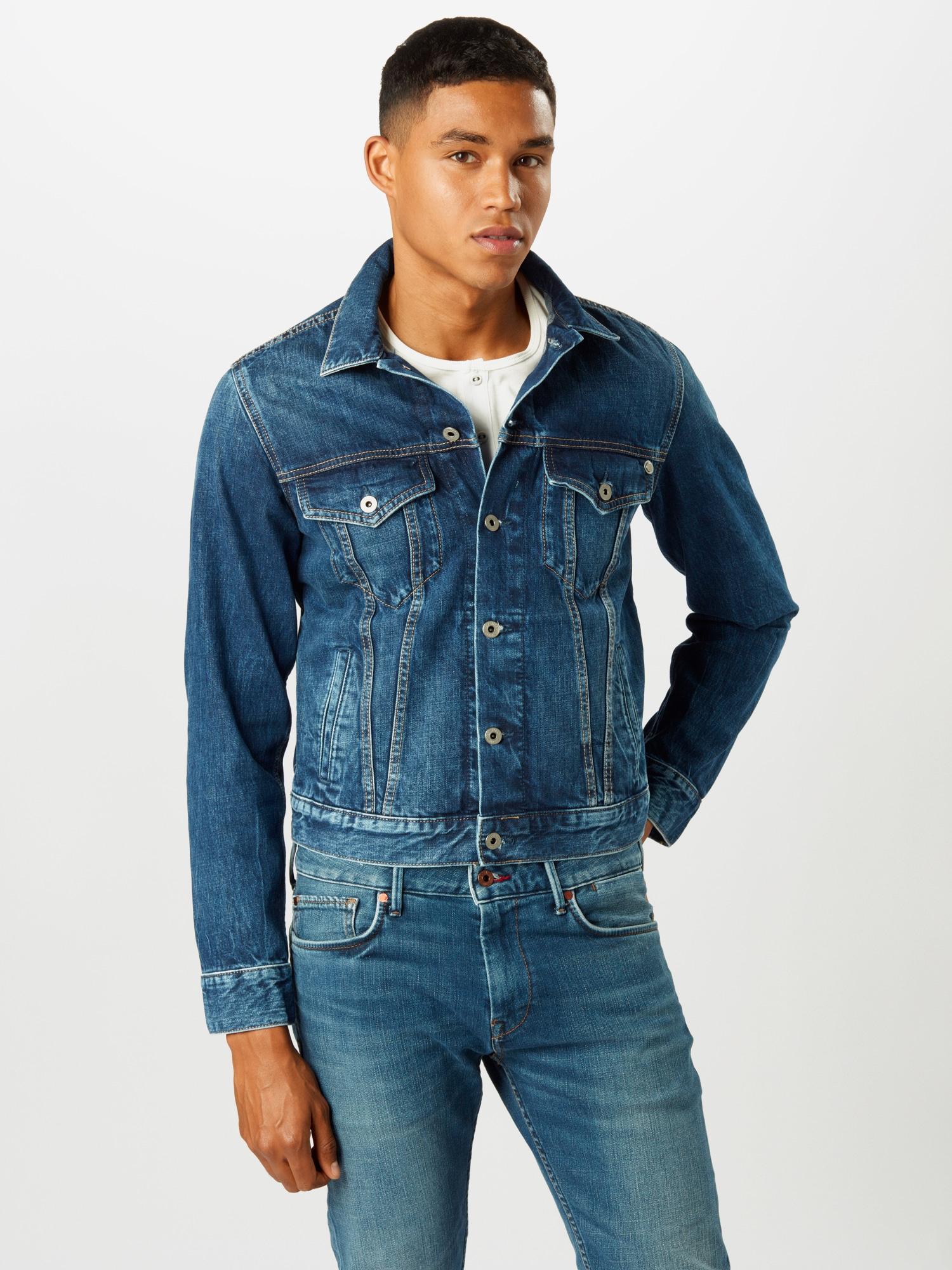 Pepe Jeans Övergångsjacka 'Pinner'  blå denim