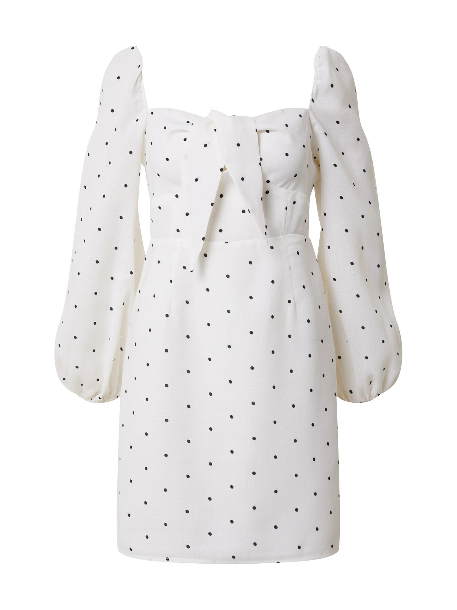 GLAMOROUS Košeľové šaty  biela