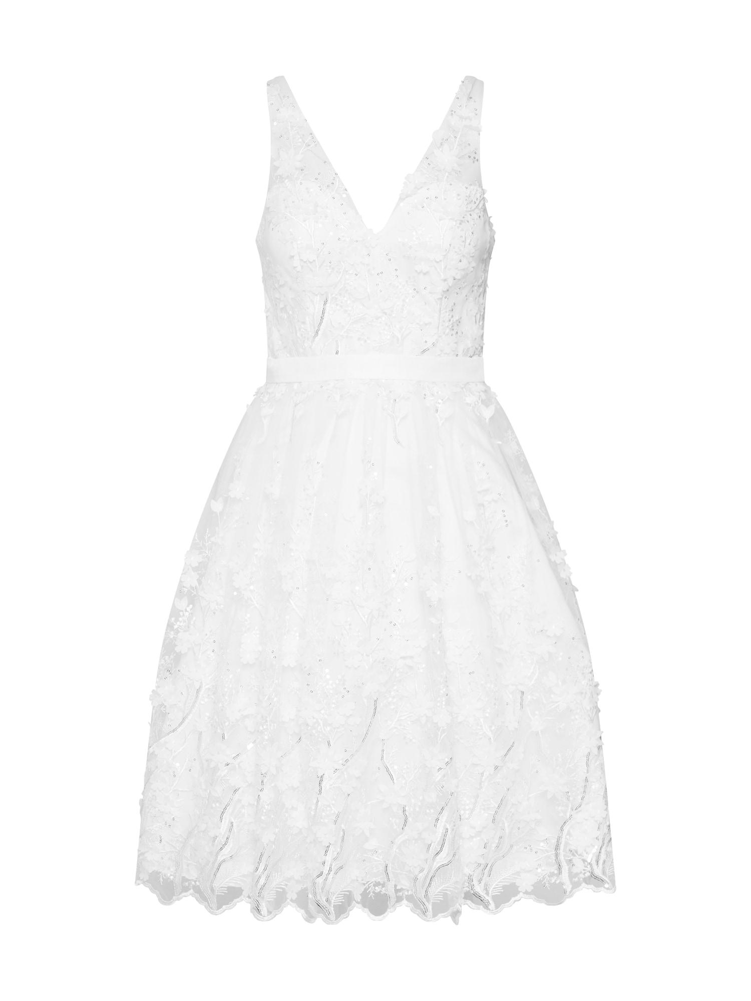 Koktejlové šaty krémová Unique