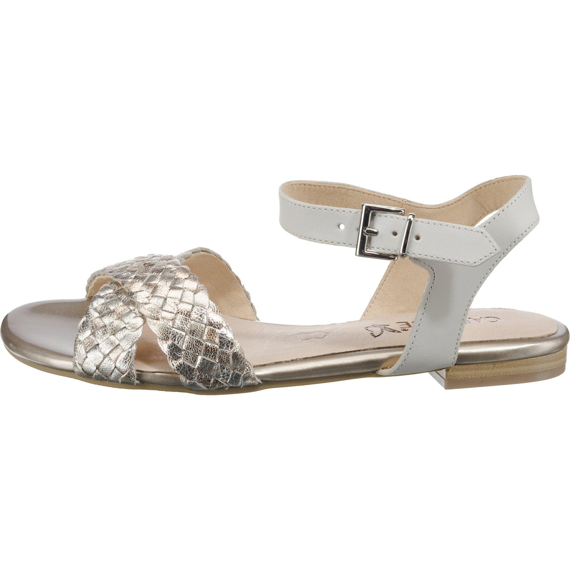 pretty nice d7edf c5b2b AboutYou | SALE Damen Caprice Sandalen gold, weiß ...