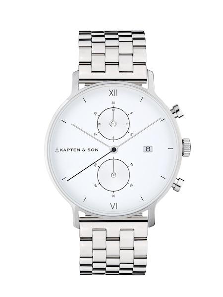 Uhren für Frauen - Kapten Son Armbanduhr 'Chrono Silver Steel' silber weiß  - Onlineshop ABOUT YOU