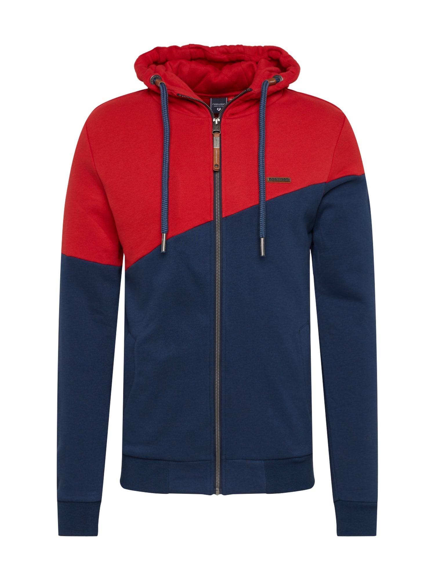 Ragwear Džemperis 'WINGS' tamsiai mėlyna / raudona