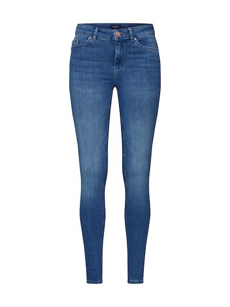 Hosen - Jeans 'PCDELLY SKN MW LB124 BA NOOS' › PIECES › blue denim  - Onlineshop ABOUT YOU