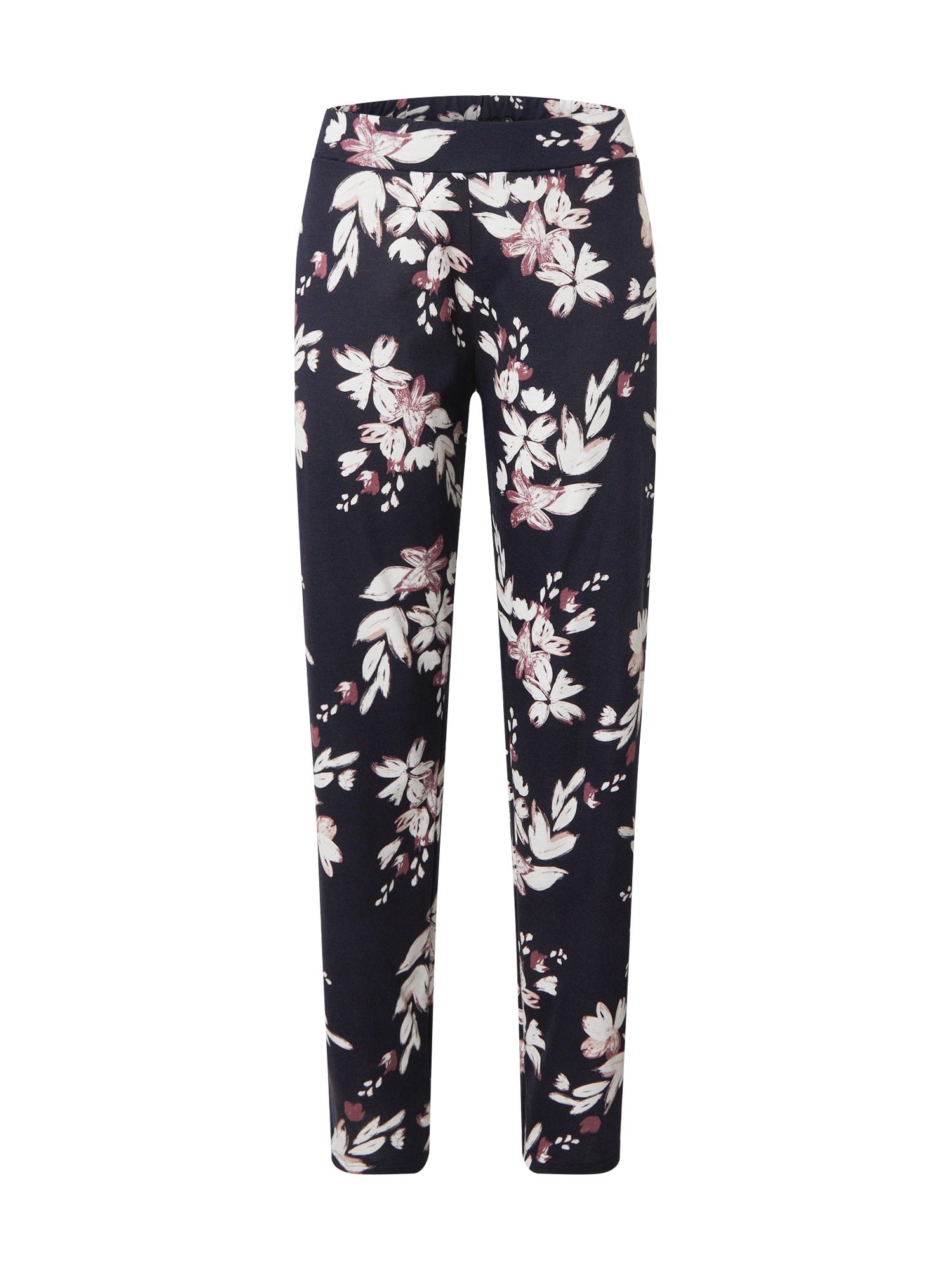 CALIDA Pižaminės kelnės rožių spalva / tamsiai mėlyna / balta