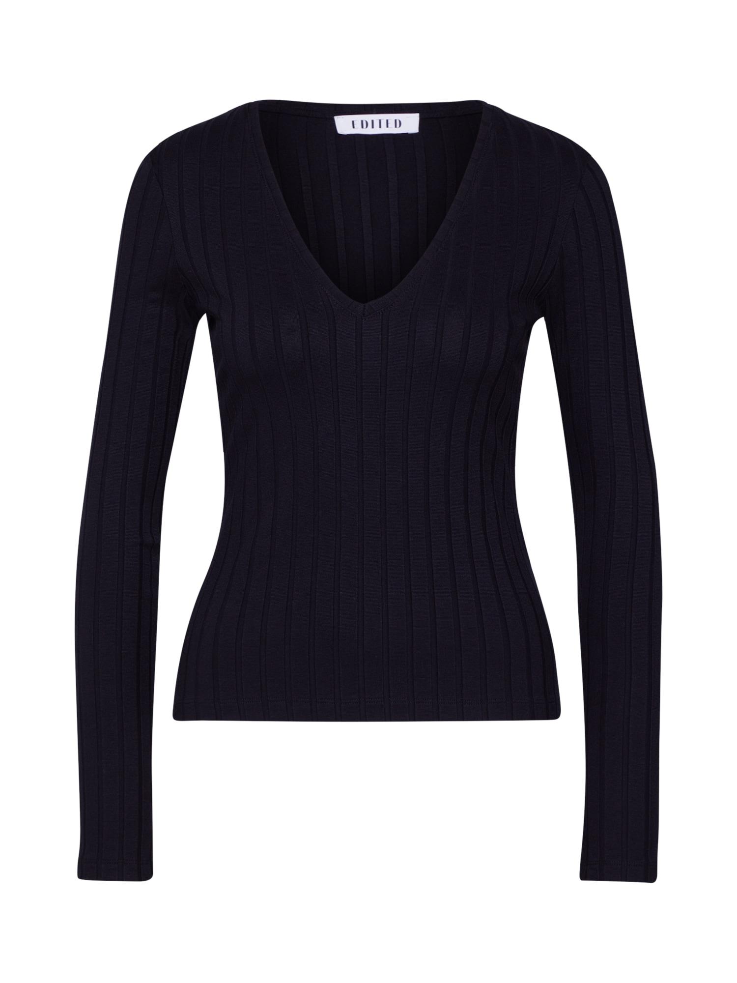 EDITED Marškinėliai 'Elin' juoda