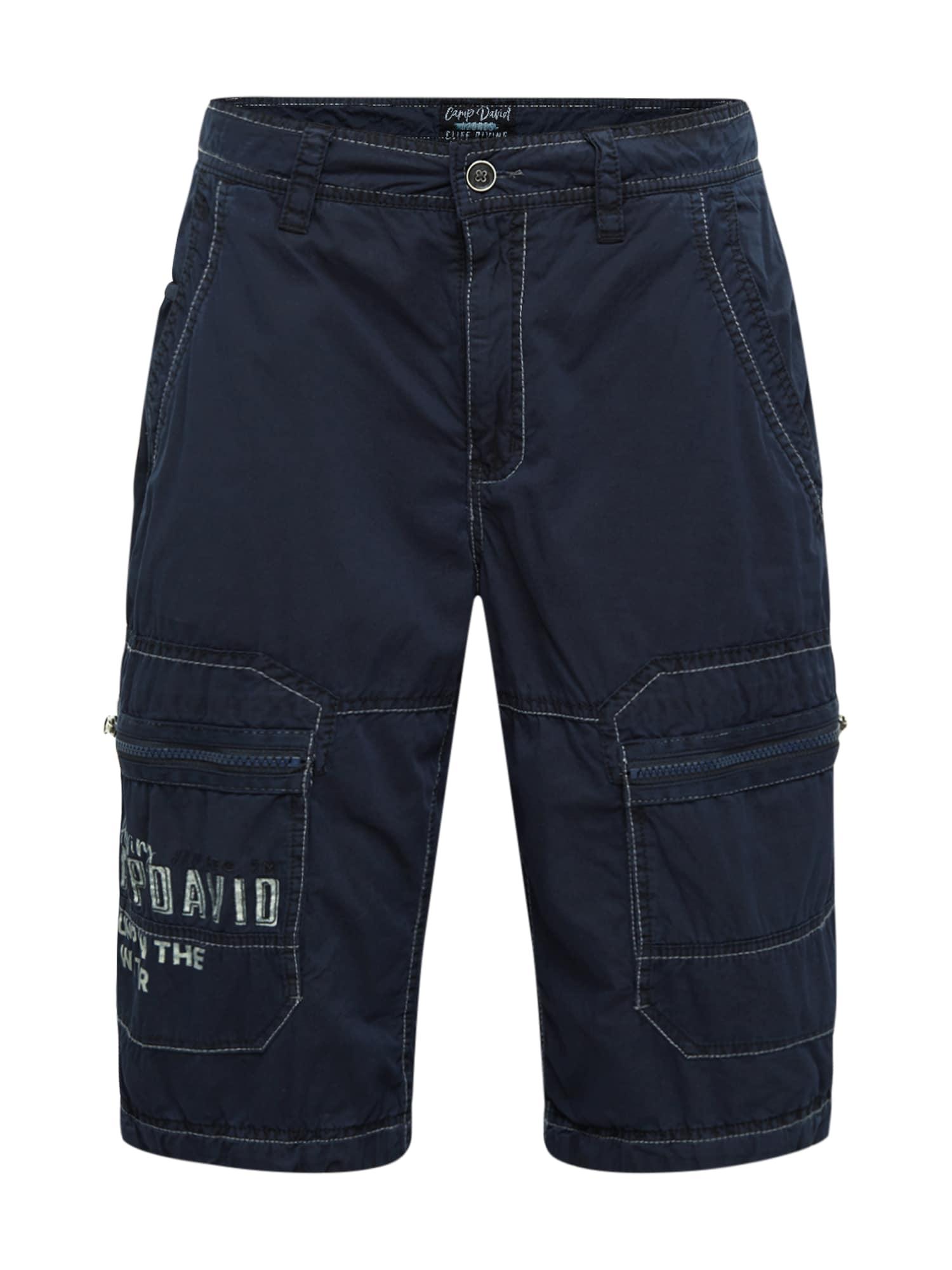 CAMP DAVID Laisvo stiliaus kelnės ultramarino mėlyna (skaidri)