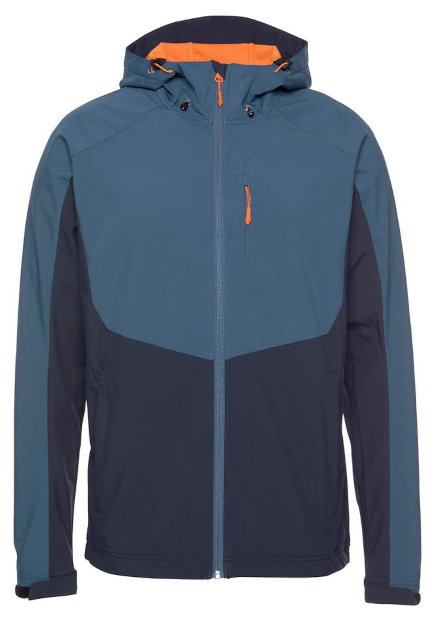 ICEPEAK Demisezoninė striukė 'Barnes' oranžinė / tamsiai mėlyna jūros spalva / mėlyna