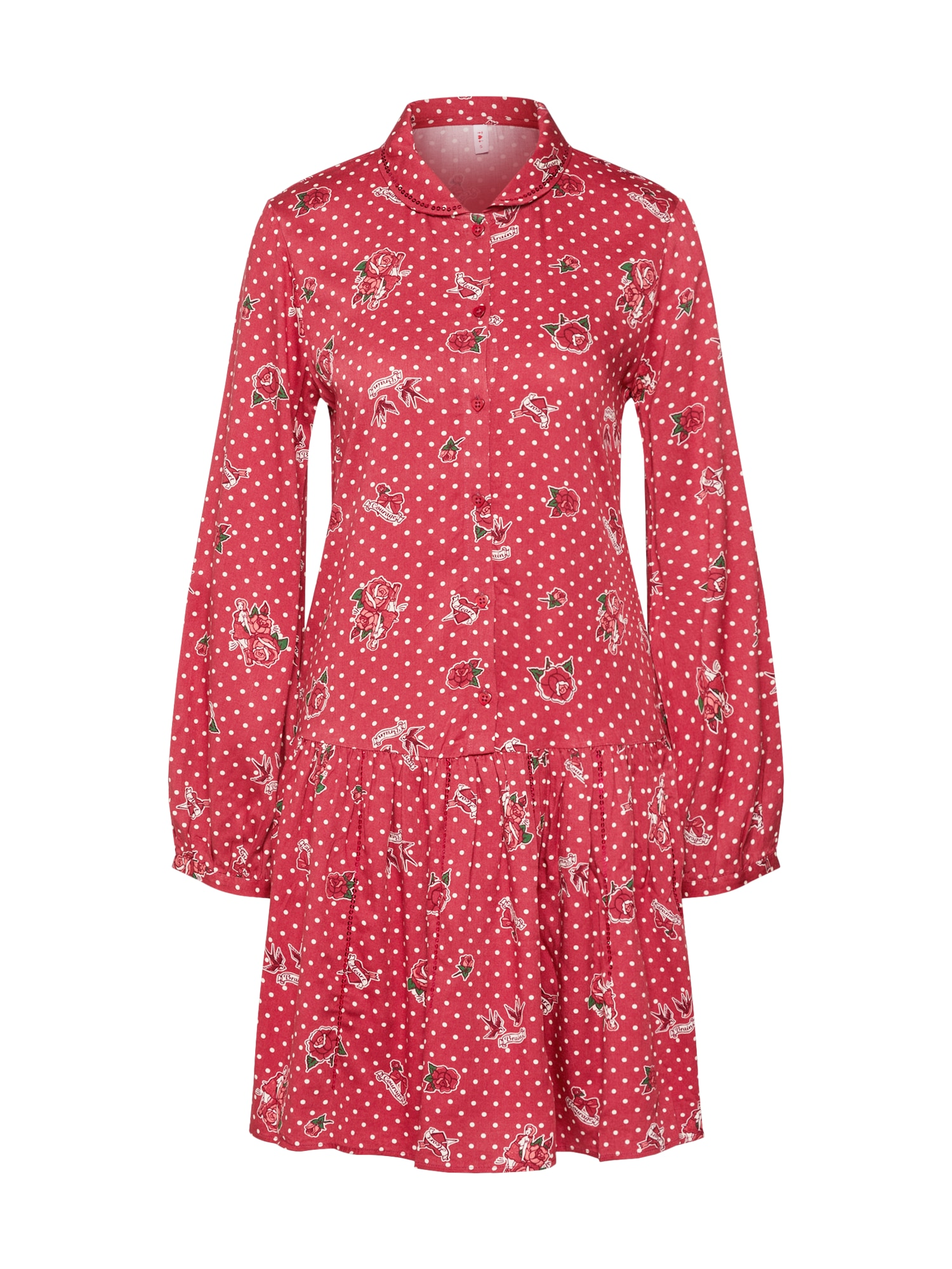 Blutsgeschwister Palaidinės tipo suknelė 'new romantics minidress' raudona