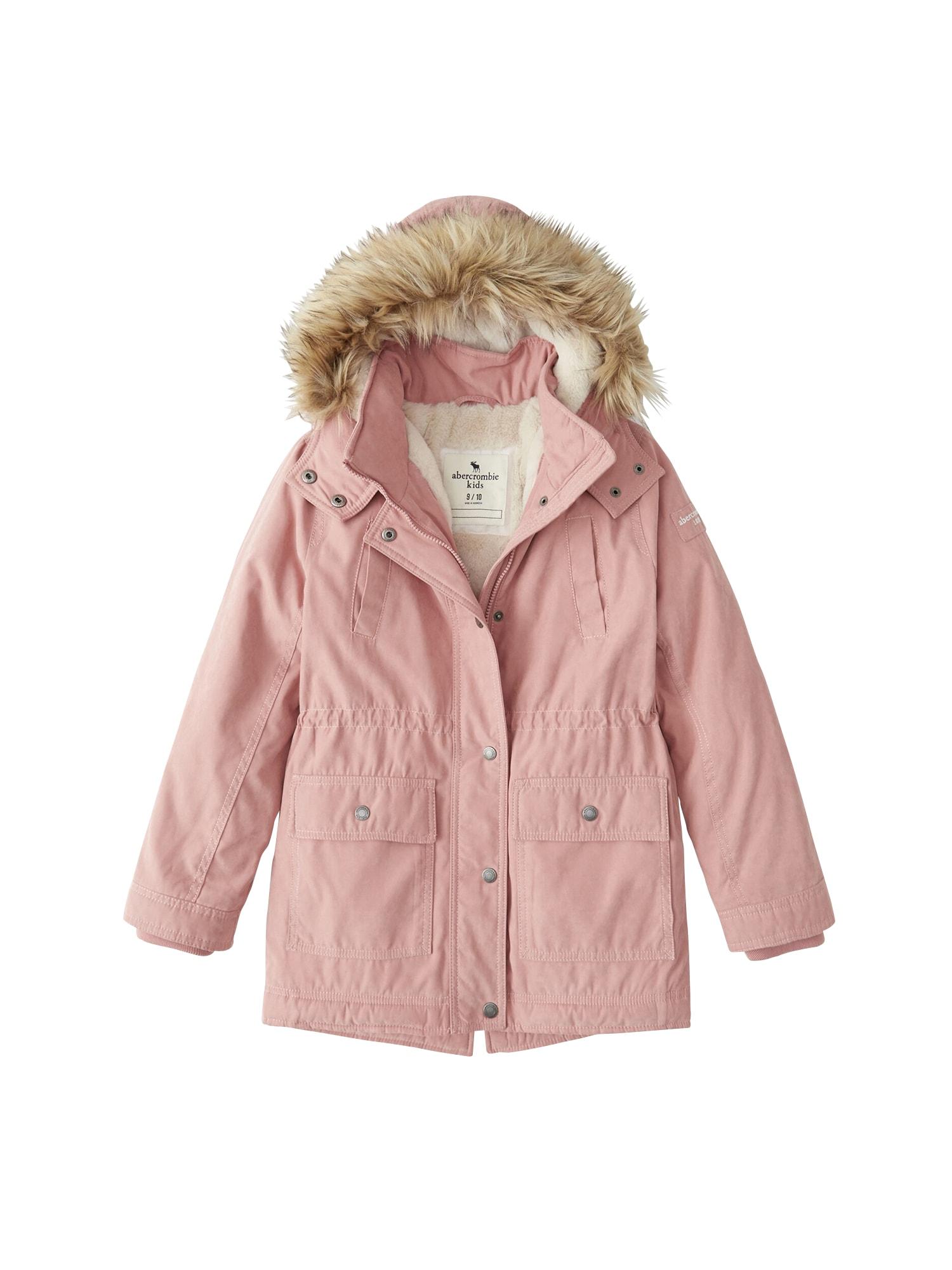 Abercrombie & Fitch Žieminė striukė rožinė