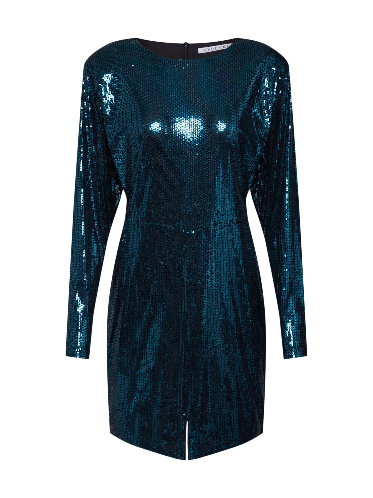 IVYREVEL Kokteilinė suknelė tamsiai žalia
