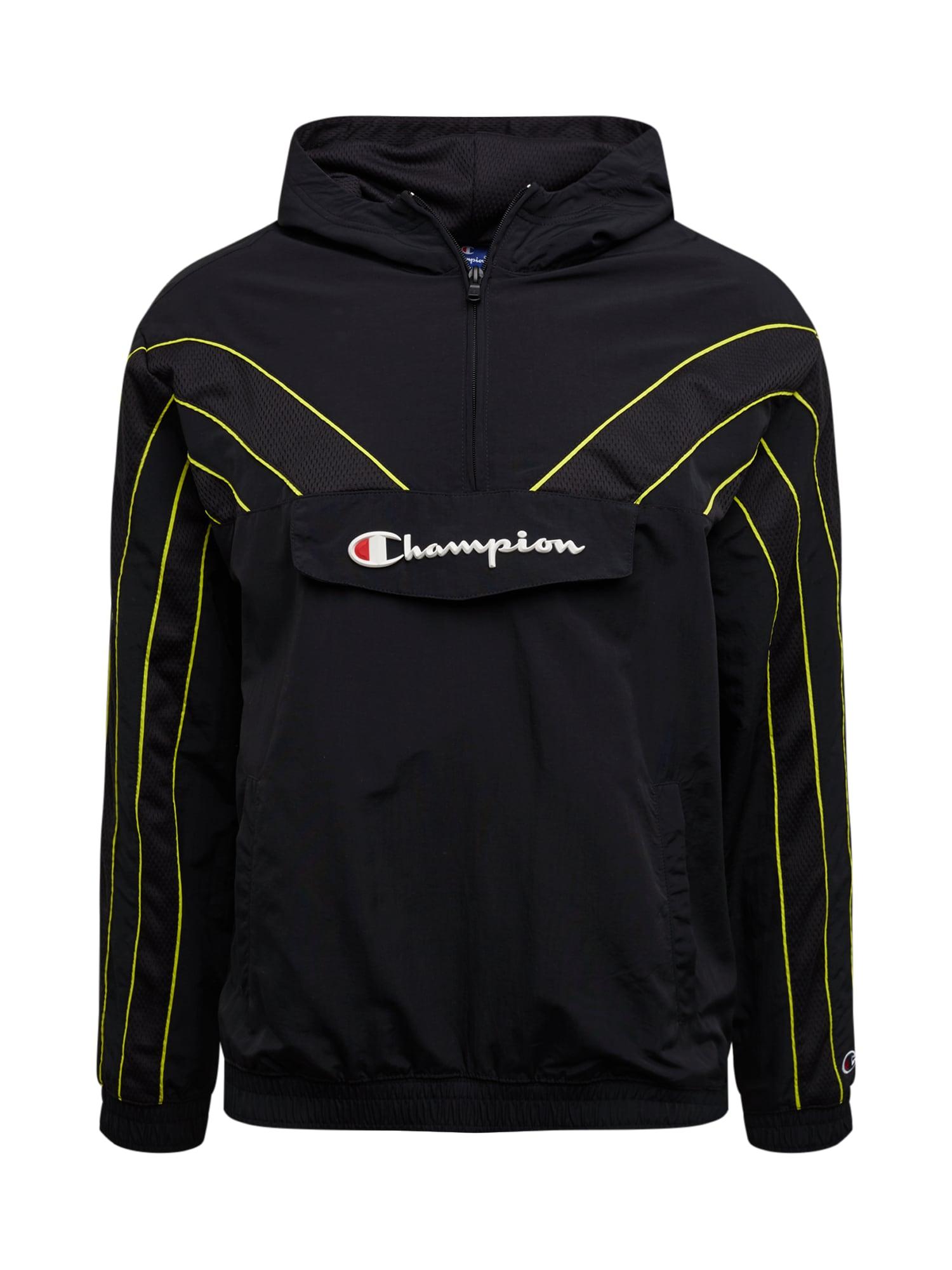 Champion Authentic Athletic Apparel Megztinis be užsegimo žaliosios citrinos spalva / juoda