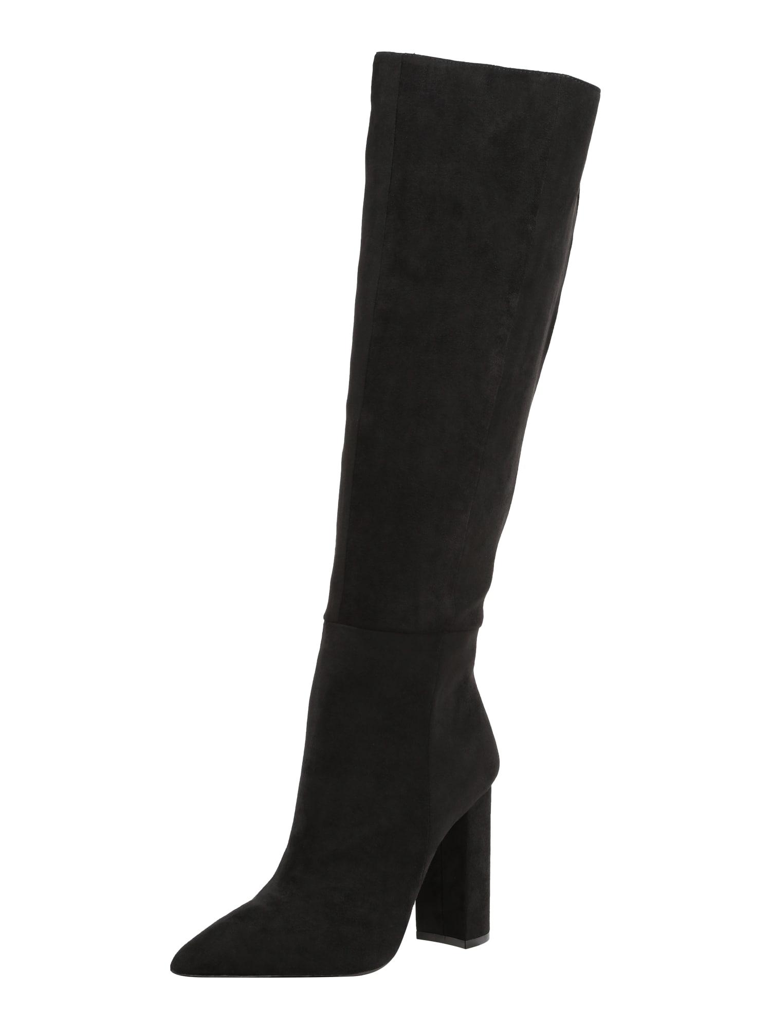 BUFFALO Auliniai batai su kulniuku 'FINKA' juoda