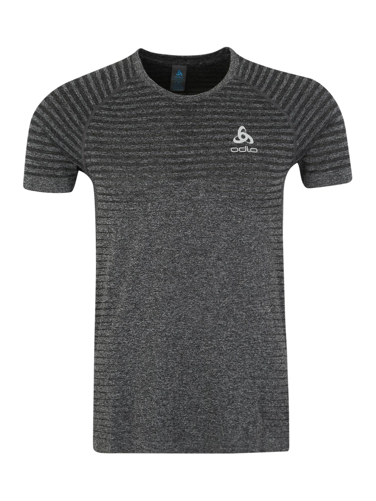 ODLO Sportiniai marškinėliai 'Seamless ELEMENT' margai pilka / balta