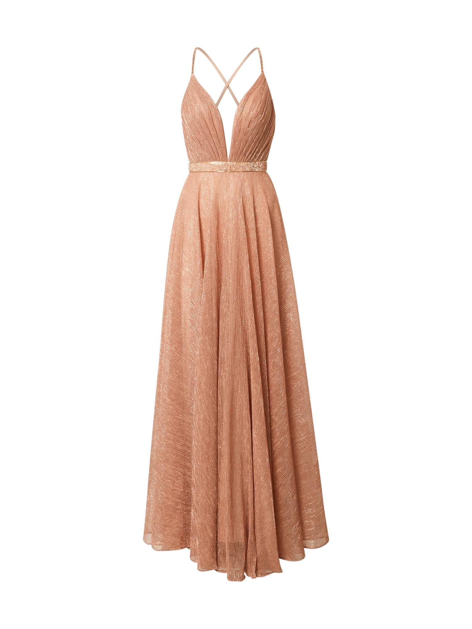 LUXUAR Vakarinė suknelė rožinio aukso spalva