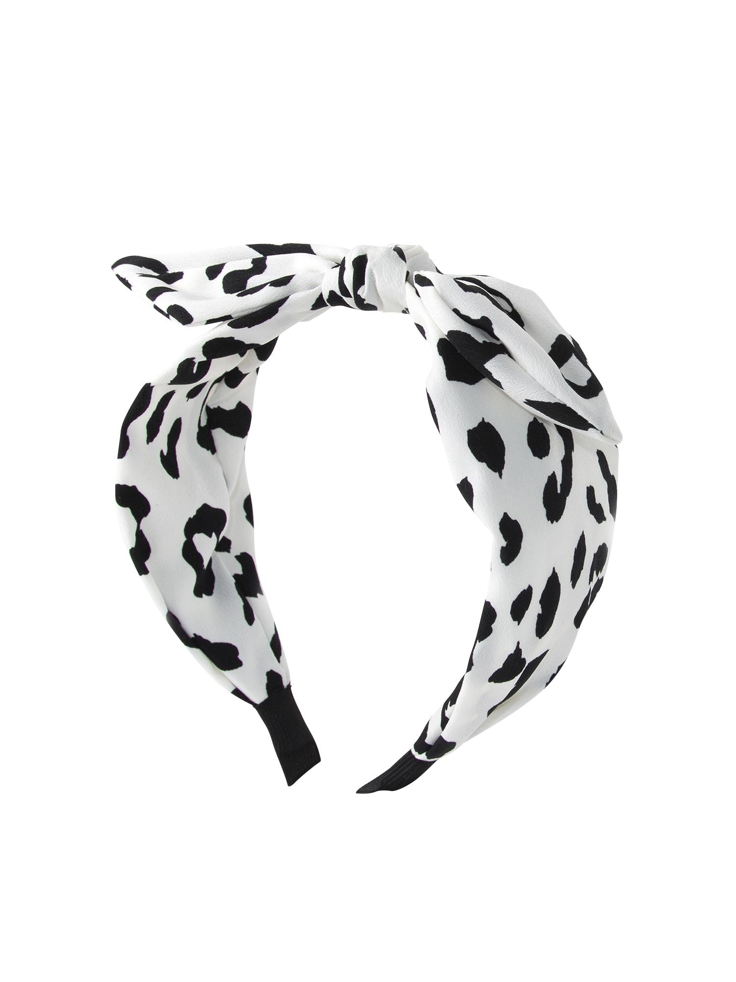 Šperky do vlasů white animal headband černá bílá Orelia