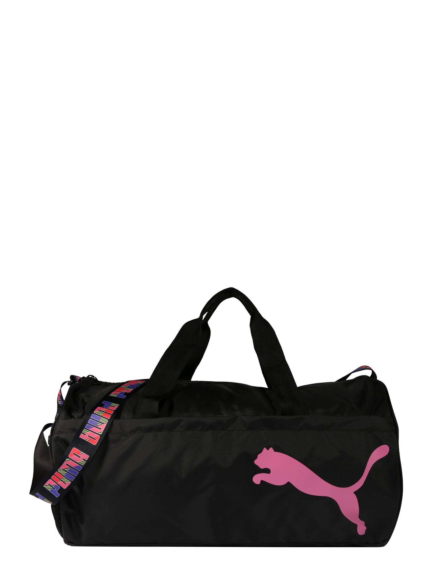 PUMA Sportinis krepšys juoda / rožių spalva