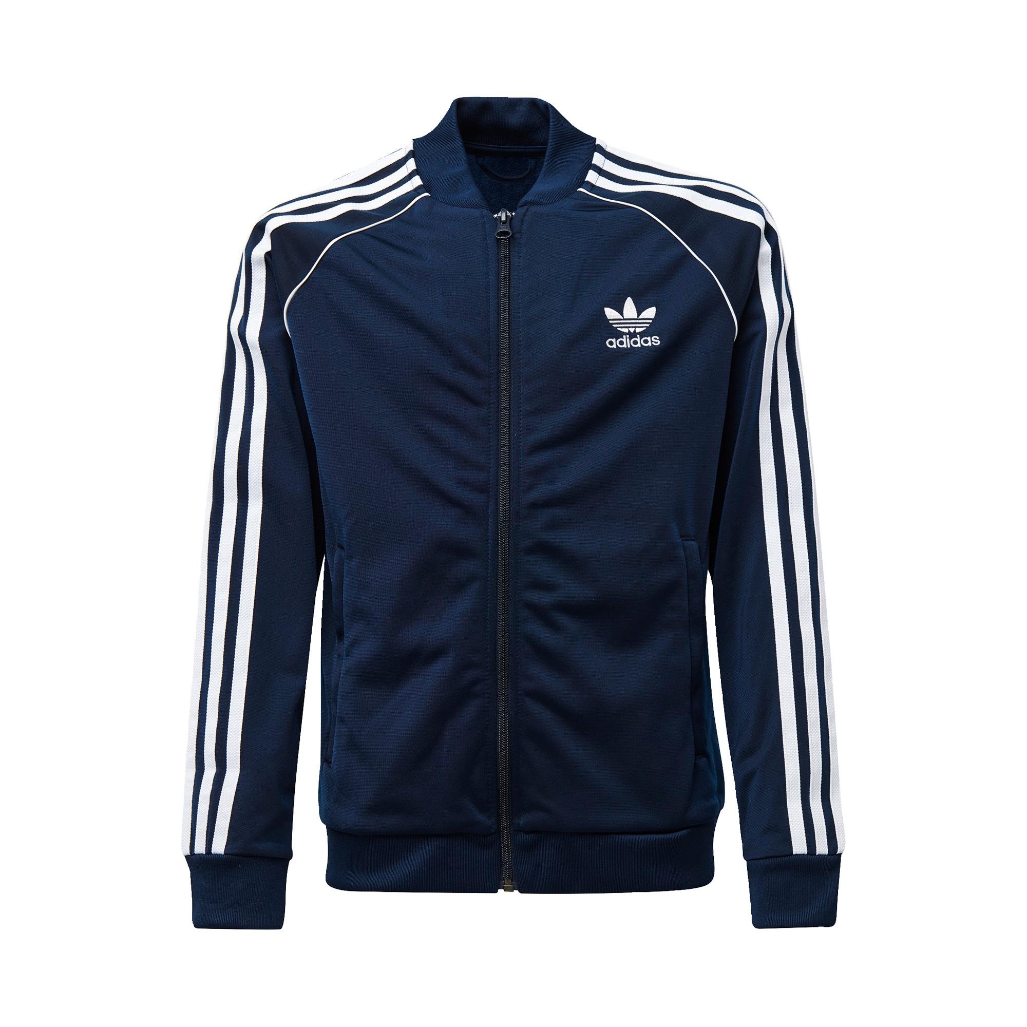 ADIDAS ORIGINALS Džemperis balta / tamsiai mėlyna