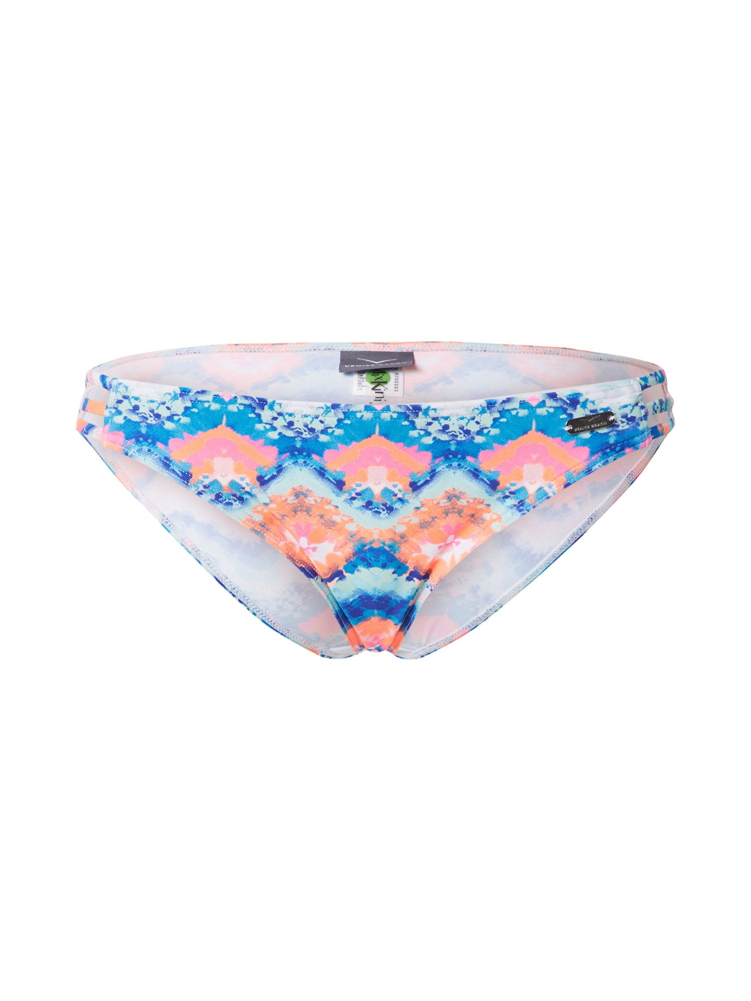 VENICE BEACH Bikinio kelnaitės mėlyna / oranžinė / balta / rožių spalva
