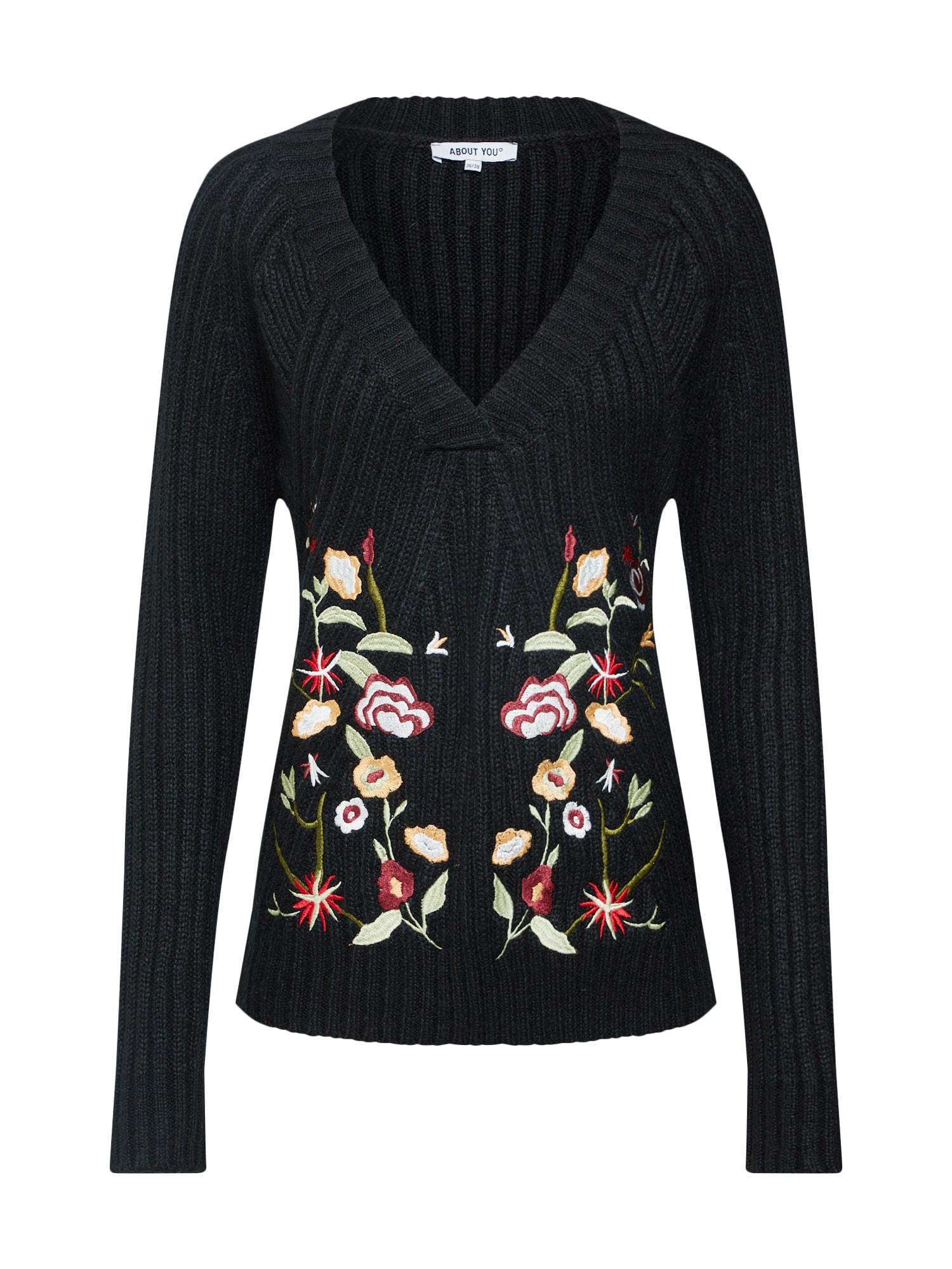 ABOUT YOU Megztinis 'Jolina' geltona / žalia / raudona / juoda