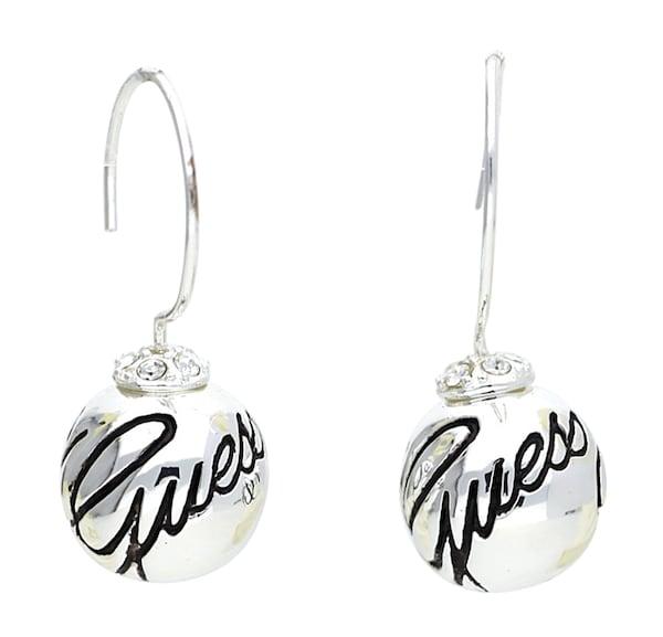 Ohrringe für Frauen - GUESS Ohrhänger 'Ube11113' schwarz silber  - Onlineshop ABOUT YOU