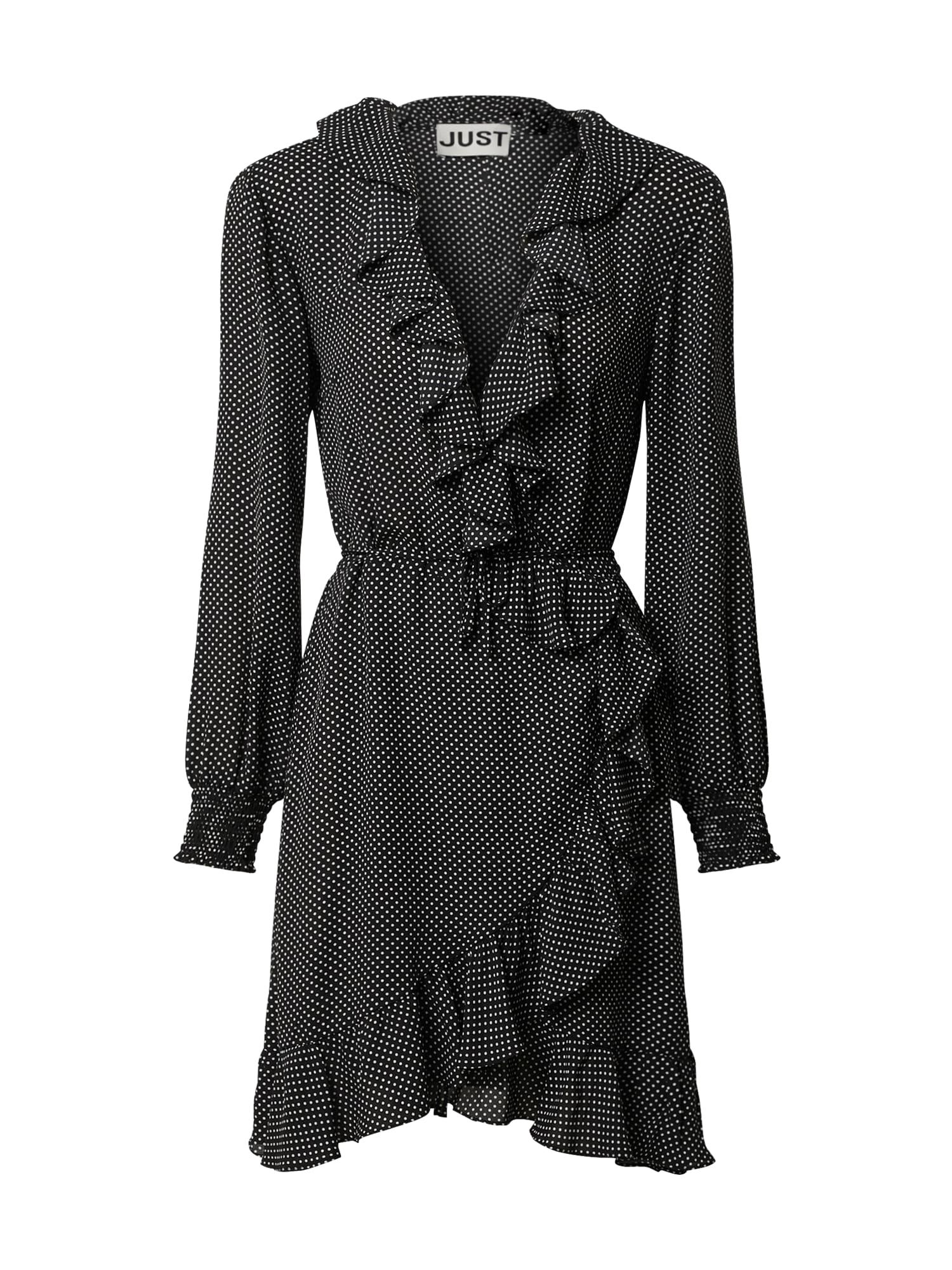 JUST FEMALE Suknelė balta / juoda