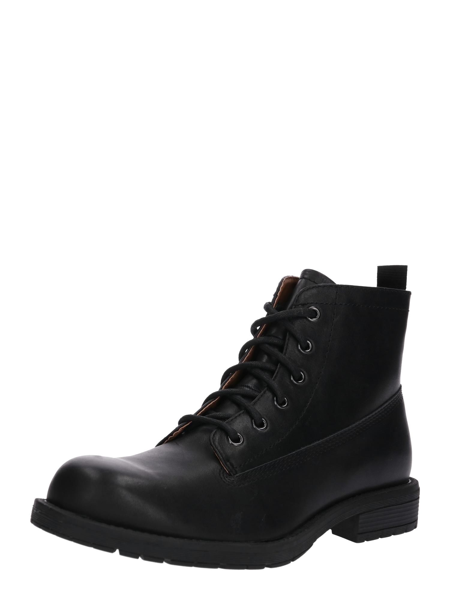 Šněrovací boty Short Lace Boots černá Zign