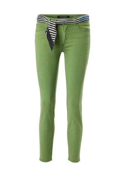 Hosen für Frauen - Marc O'Polo Hose 'Lulea' dunkelblau apfel weiß  - Onlineshop ABOUT YOU