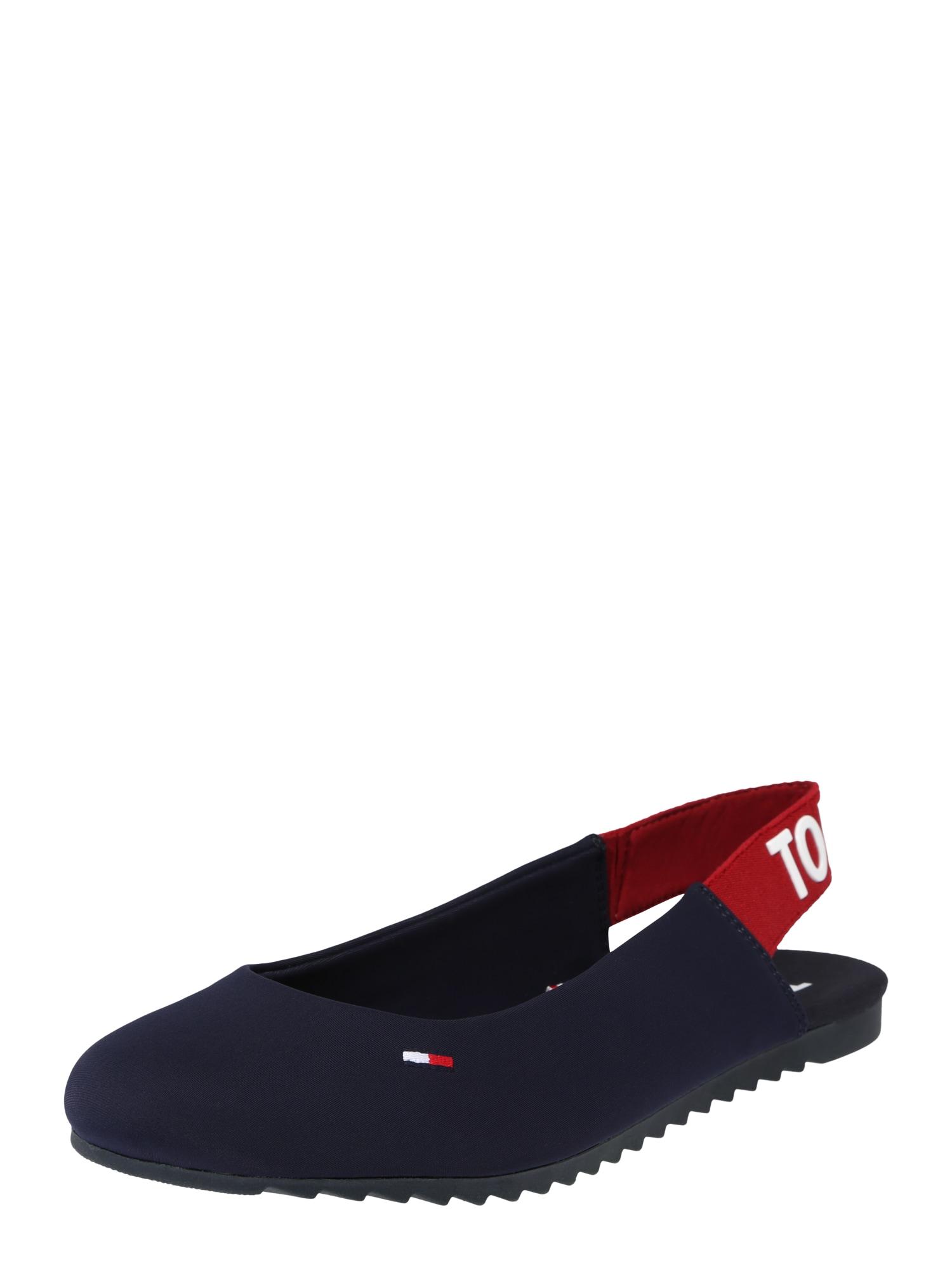 Baleríny s řemínky Melissa 4 červená černá bílá Tommy Jeans