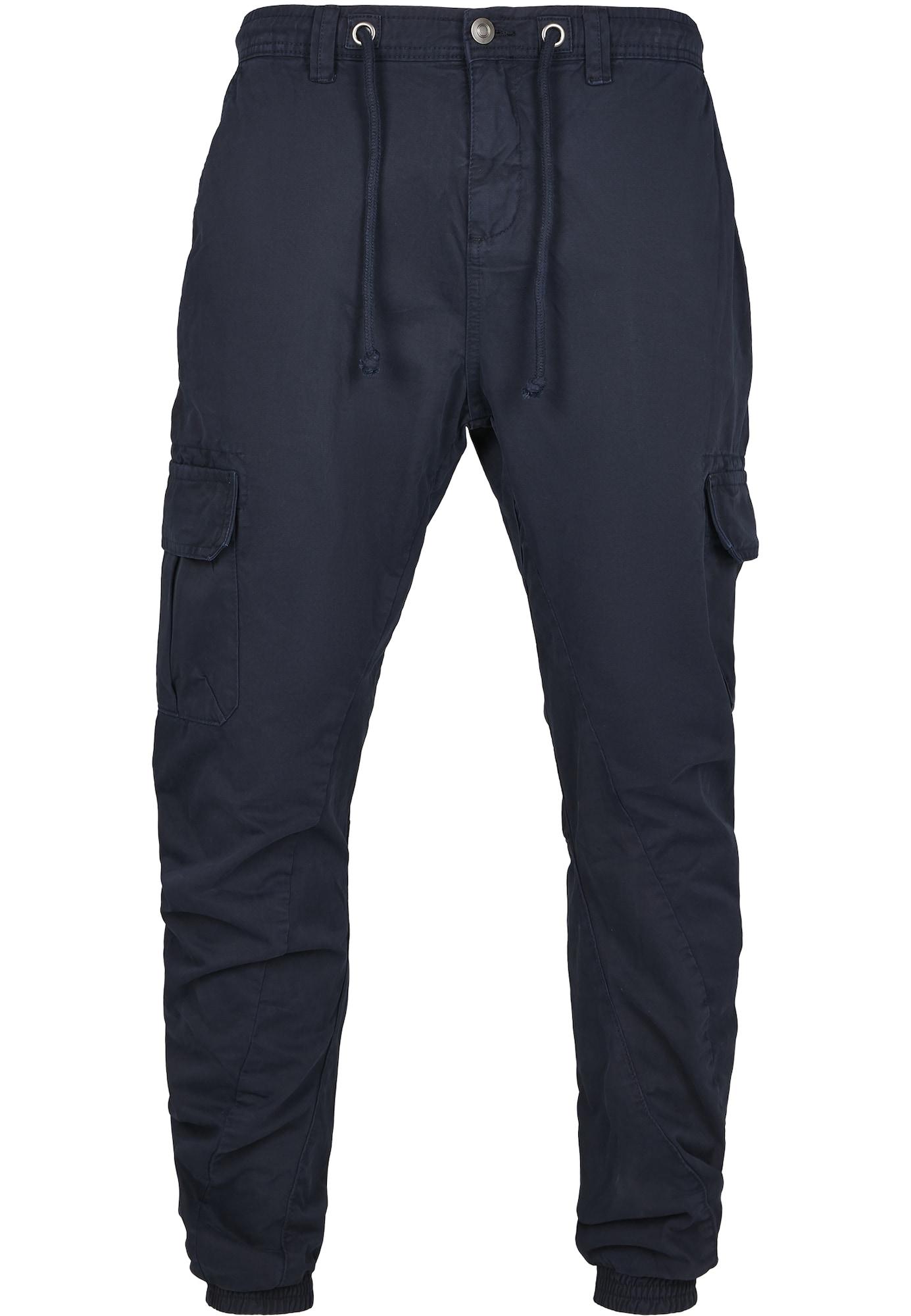 Urban Classics Laisvo stiliaus kelnės tamsiai mėlyna