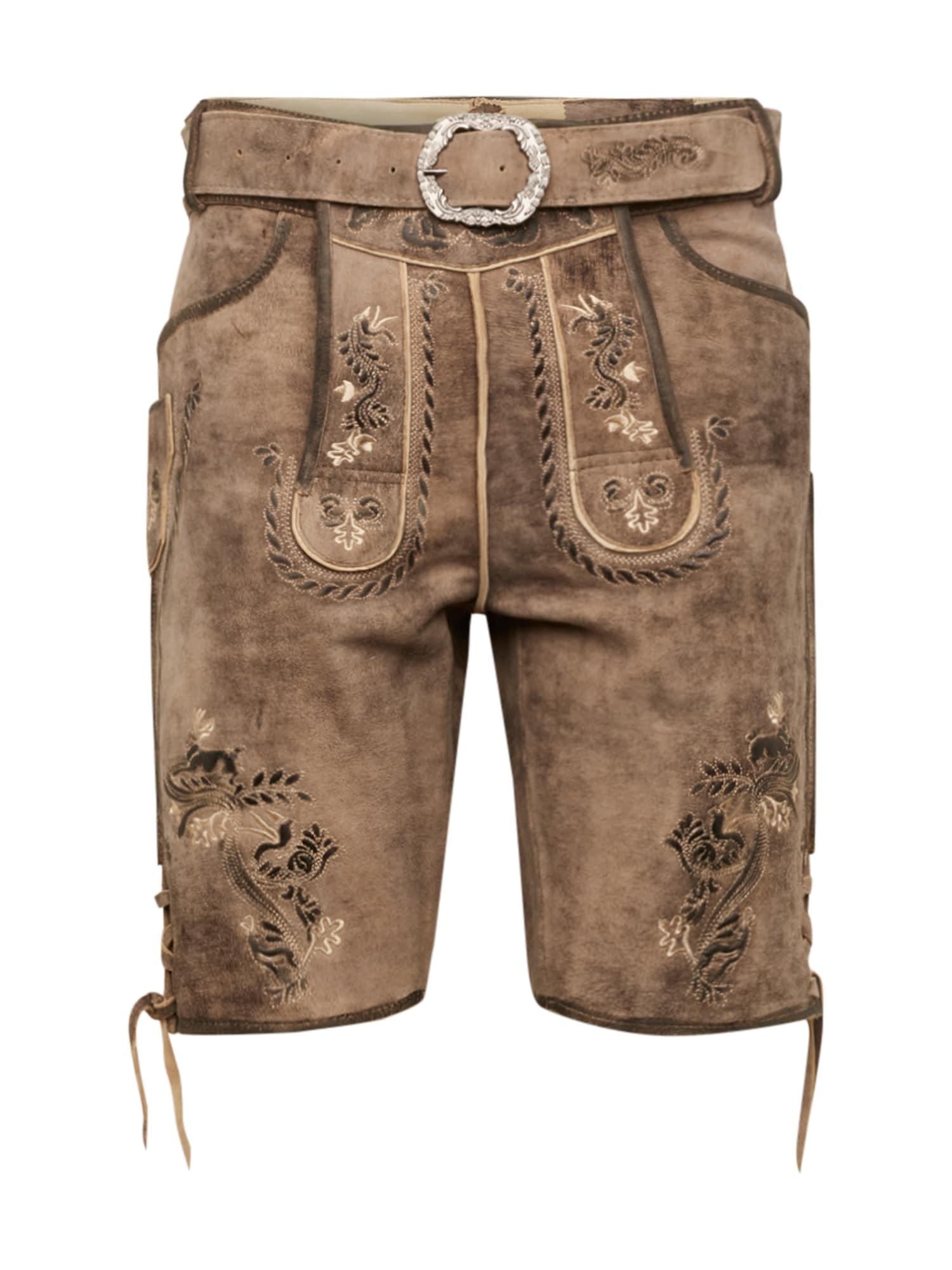 MARJO Kelnės su tradiciniais raštais 'Tibold' rausvai pilka